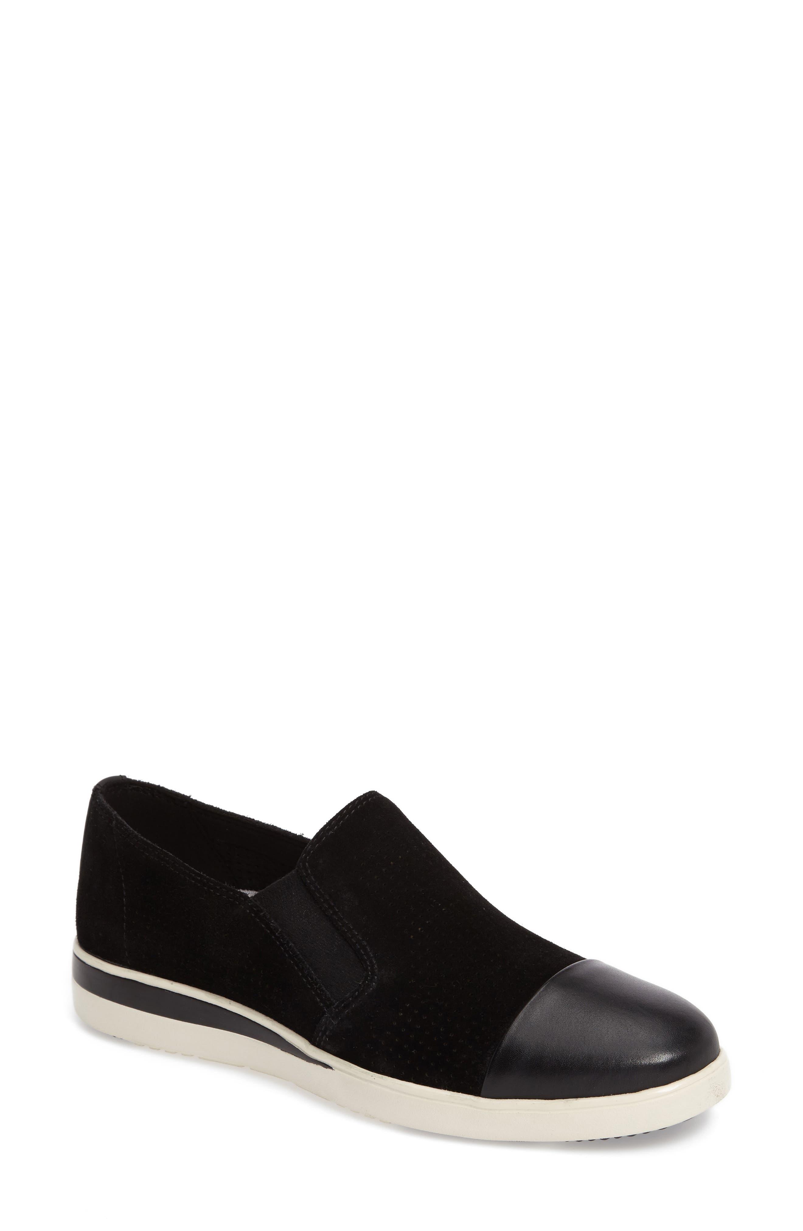 Aviana Cap Toe Slip-On Sneaker,                             Main thumbnail 1, color,                             002