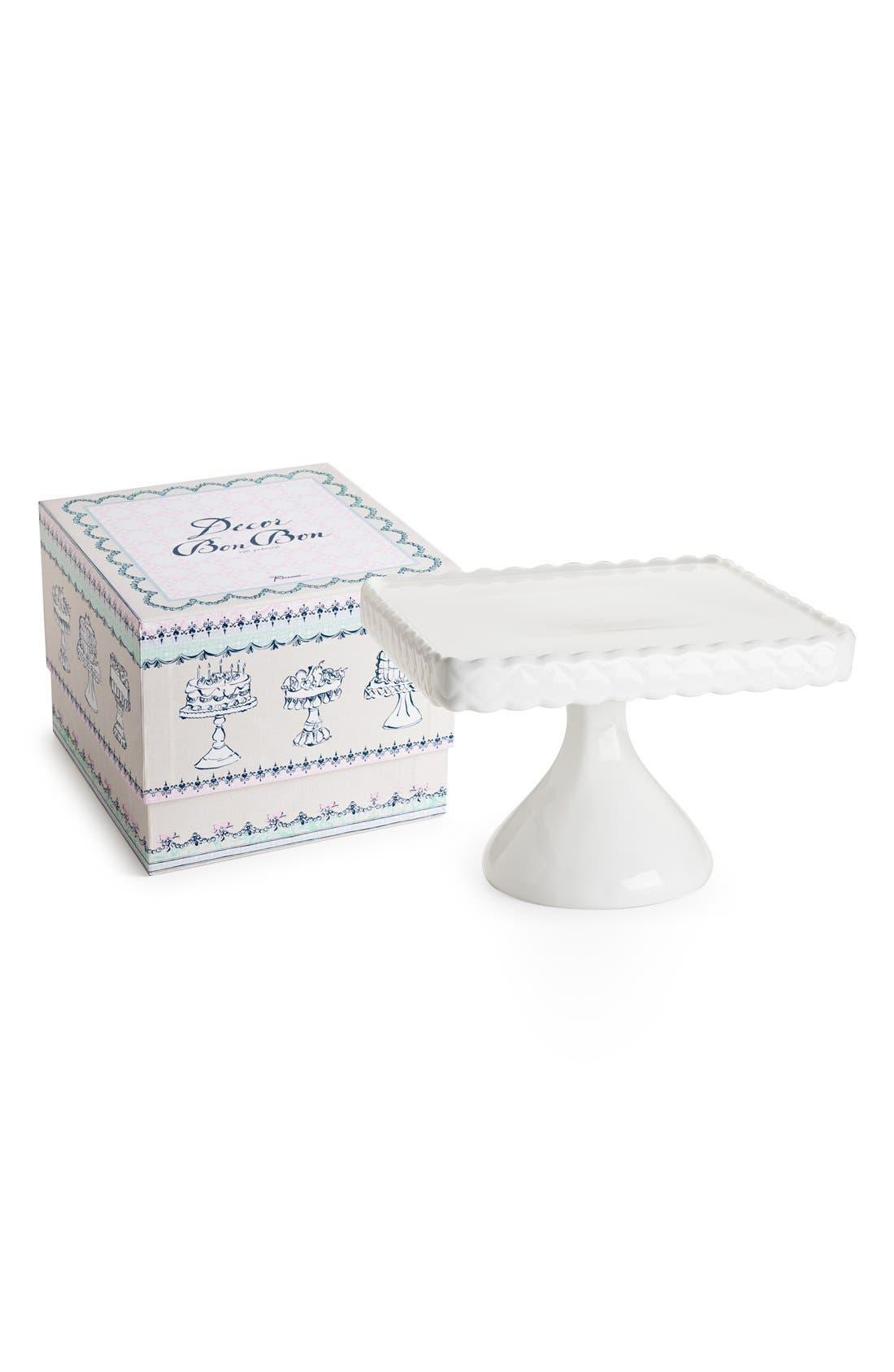 'Décor Bon Bon' Footed Square Cake Stand Pedestal,                             Main thumbnail 1, color,                             100