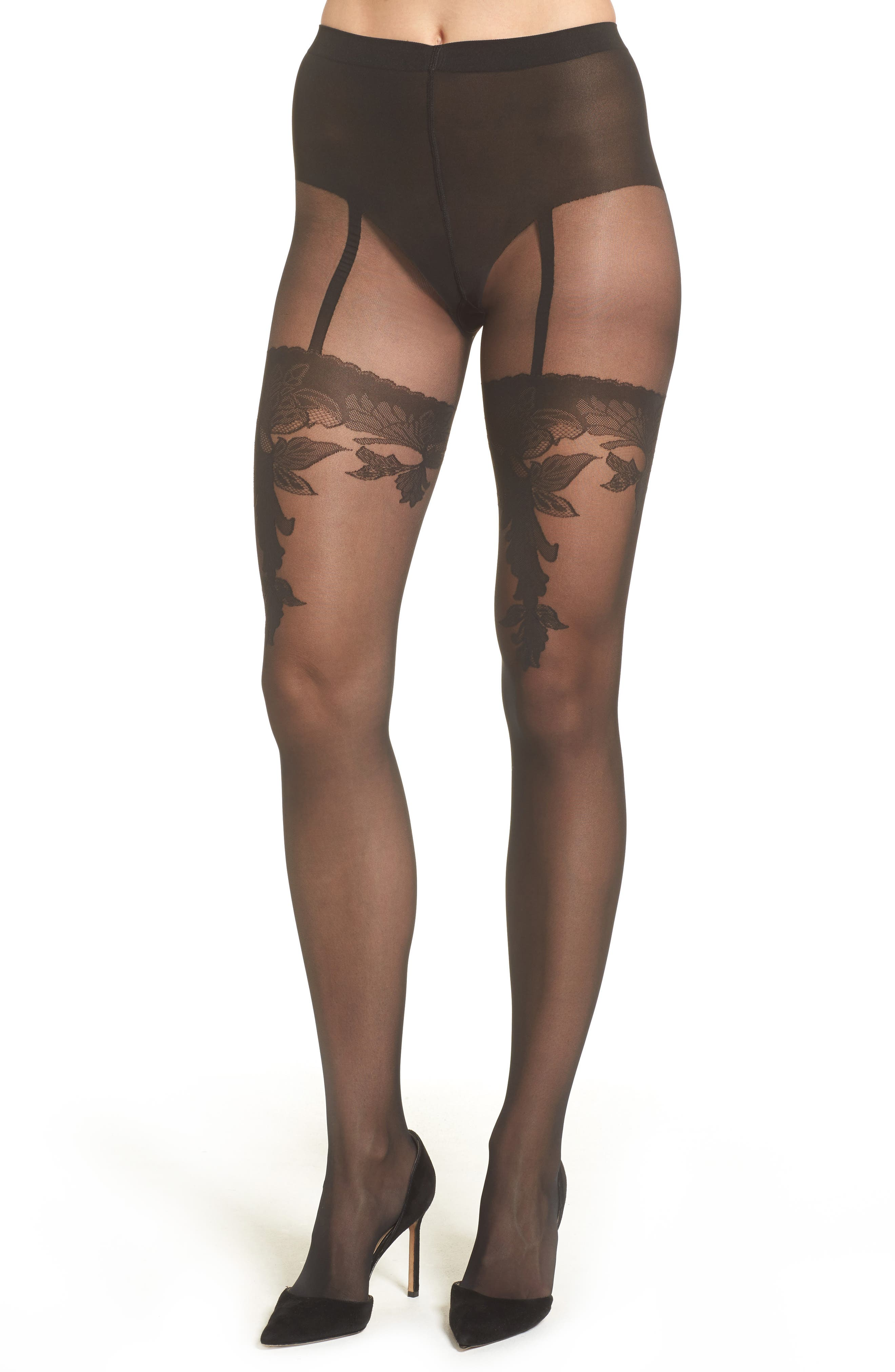 Allure Tights,                             Alternate thumbnail 2, color,                             001
