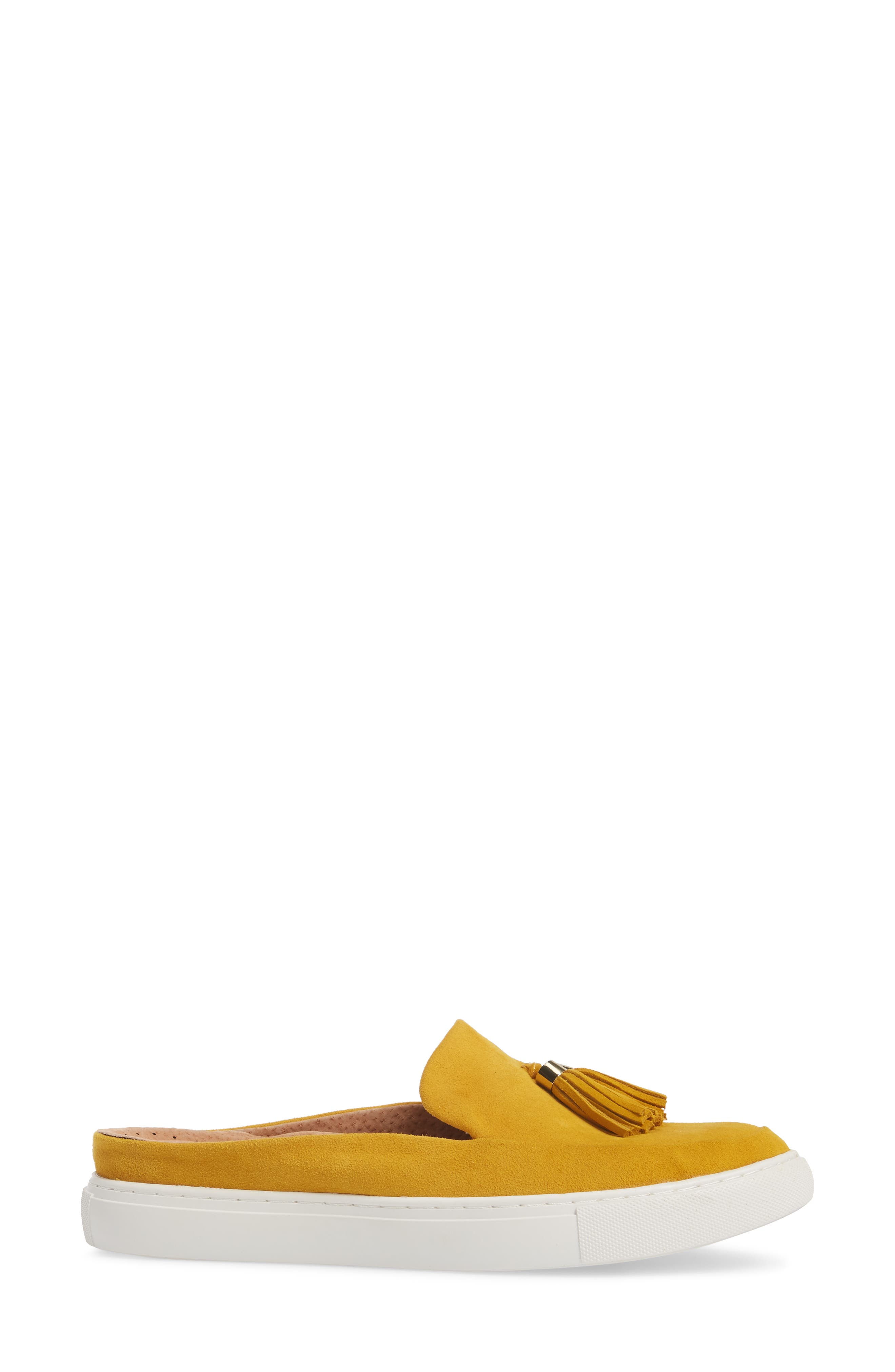 by Kenneth Cole Rory Loafer Mule Sneaker,                             Alternate thumbnail 3, color,                             MARIGOLD SUEDE