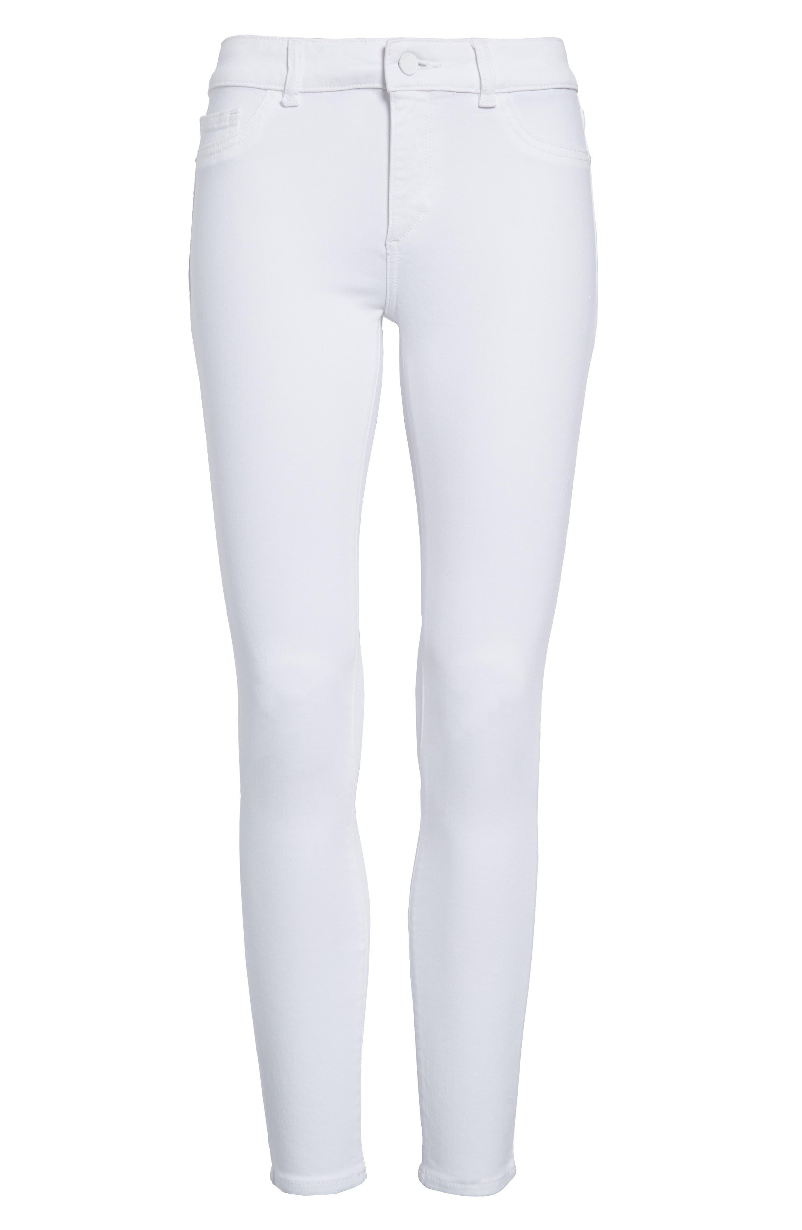 Margaux Instasculpt Ankle Skinny Jeans,                             Alternate thumbnail 7, color,                             PORCELAIN