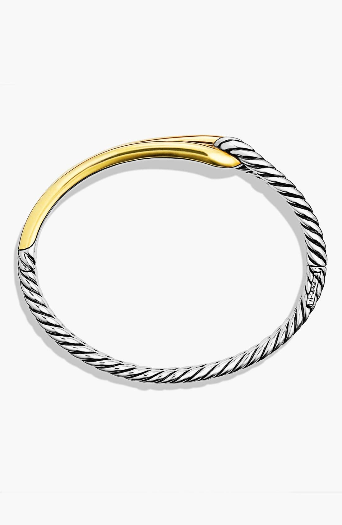 'Labyrinth' Single-Loop Bracelet with Gold,                             Alternate thumbnail 4, color,                             TWO TONE