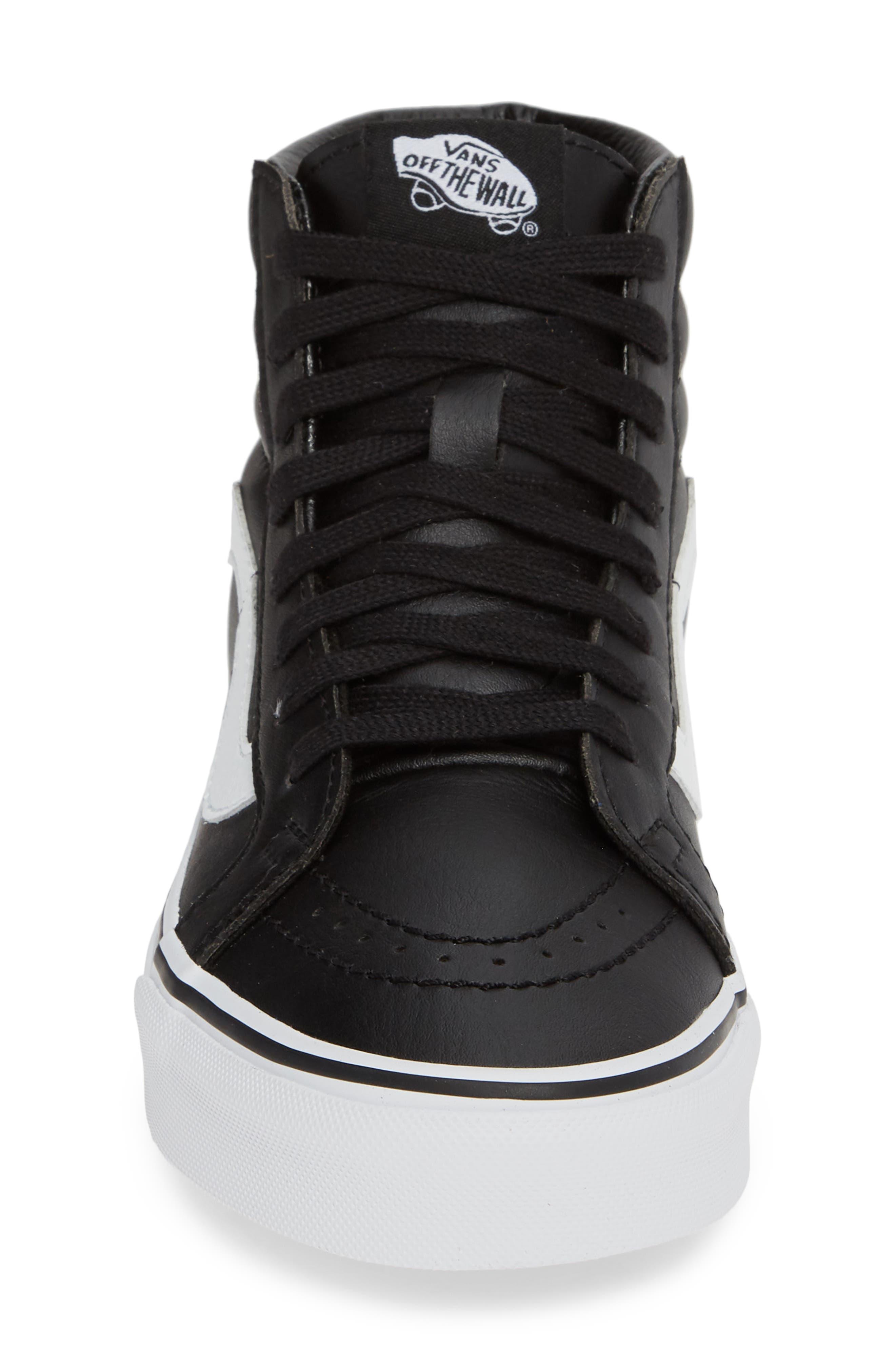 VANS,                             'Sk8-Hi Reissue' Sneaker,                             Alternate thumbnail 4, color,                             BLACK/ TRUE WHITE