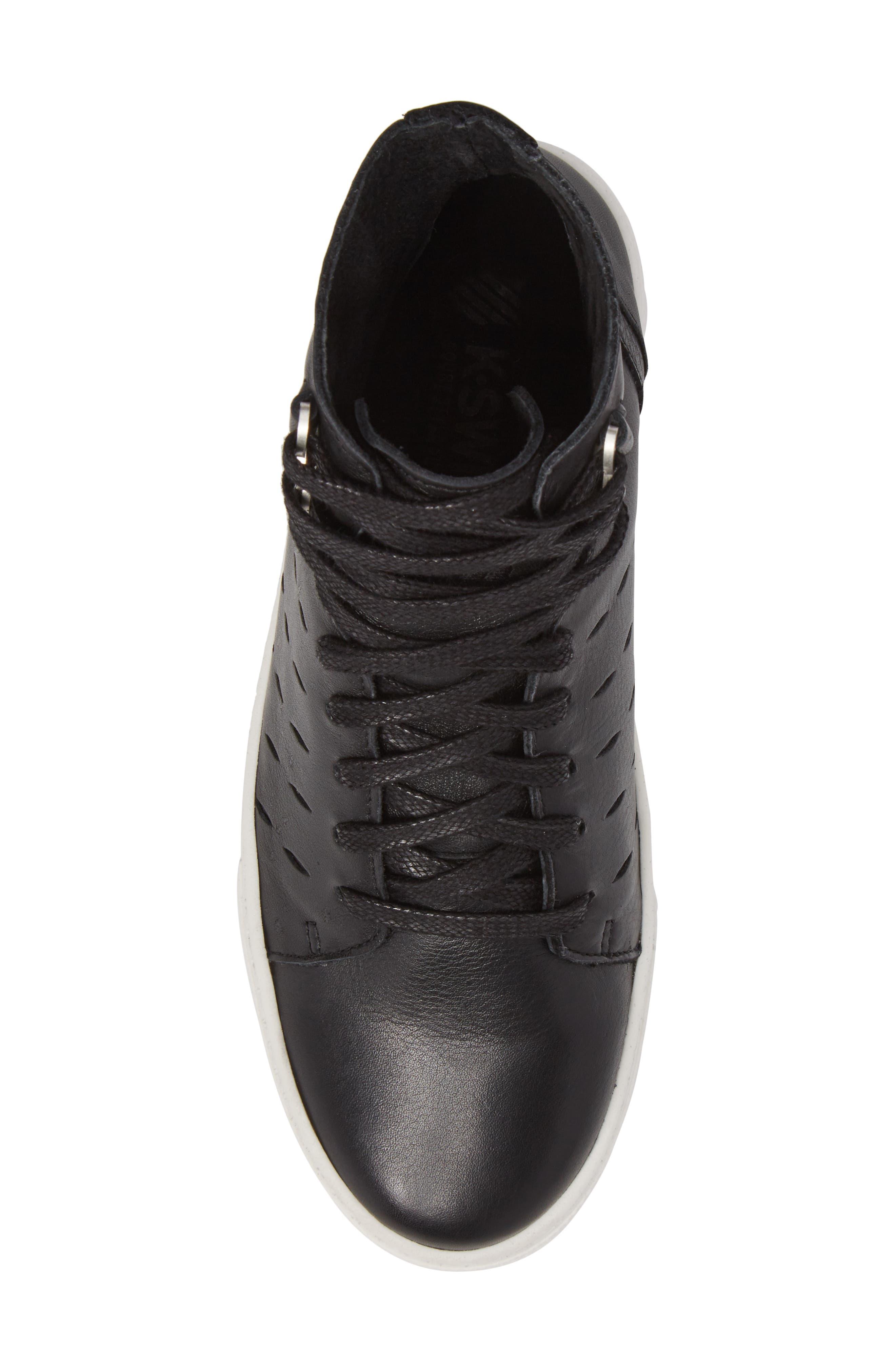 Modern High Top Sneaker,                             Alternate thumbnail 5, color,                             BLACK/ OFF WHITE