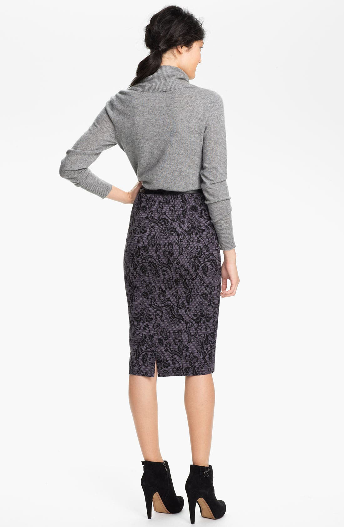 Belted Ponte Skirt,                             Alternate thumbnail 16, color,