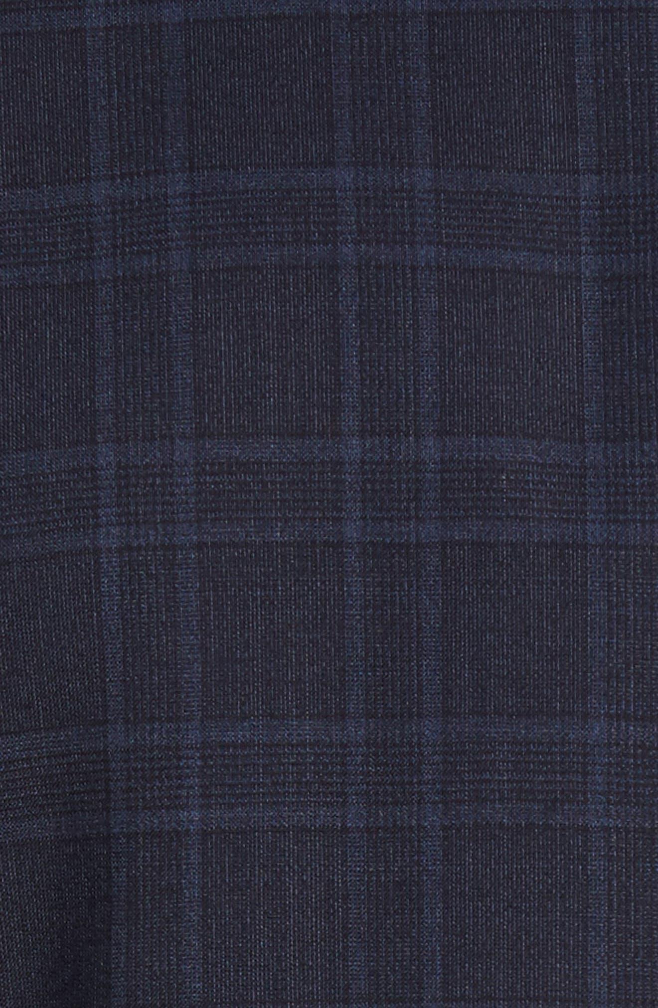 Jay Trim Fit Plaid Wool Suit,                             Alternate thumbnail 7, color,                             400