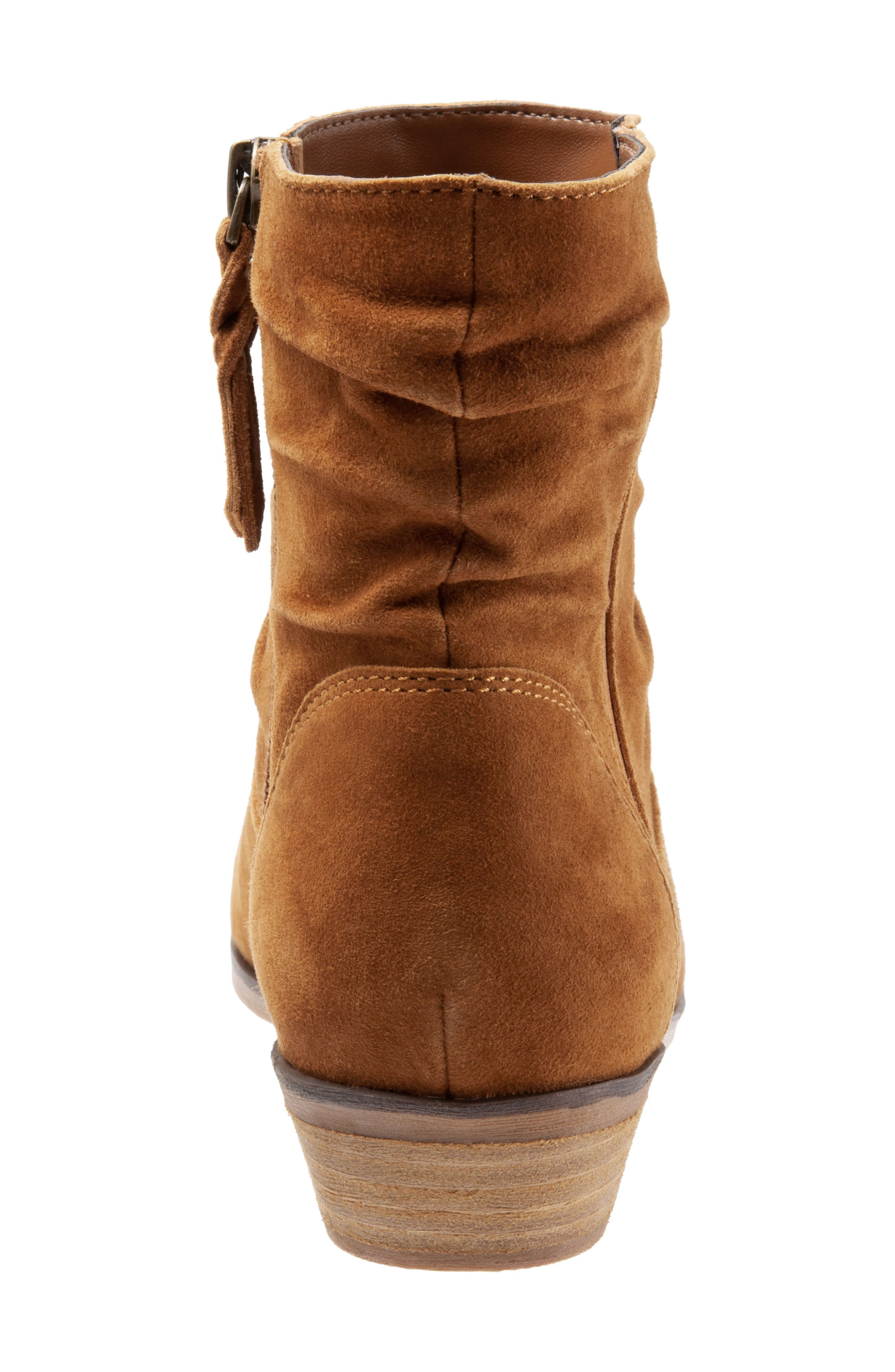 SOFTWALK<SUP>®</SUP>,                             Rochele Bootie,                             Alternate thumbnail 7, color,                             BRANDY SUEDE