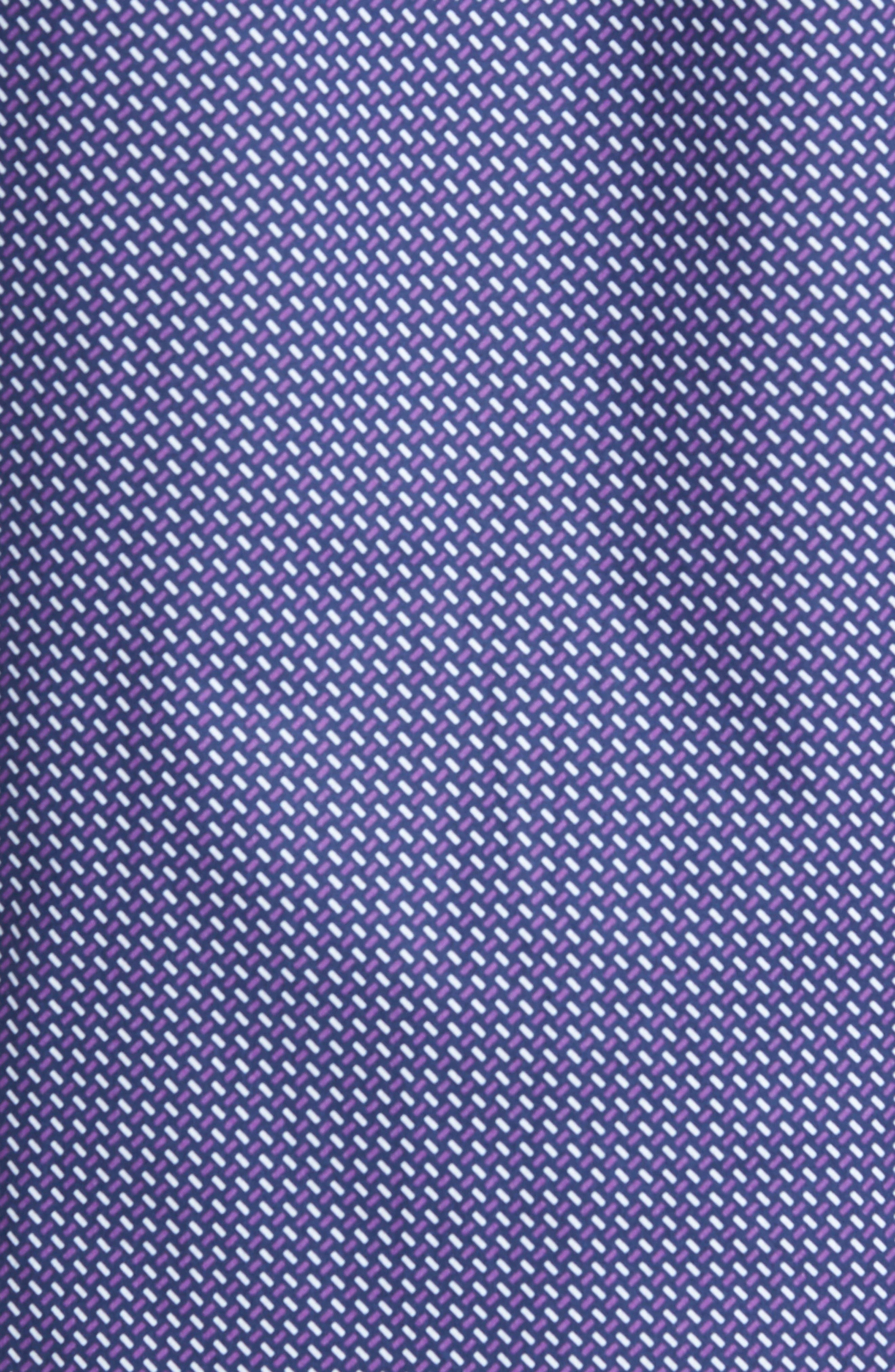 Trim Fit Weave Print Sport Shirt,                             Alternate thumbnail 5, color,                             408
