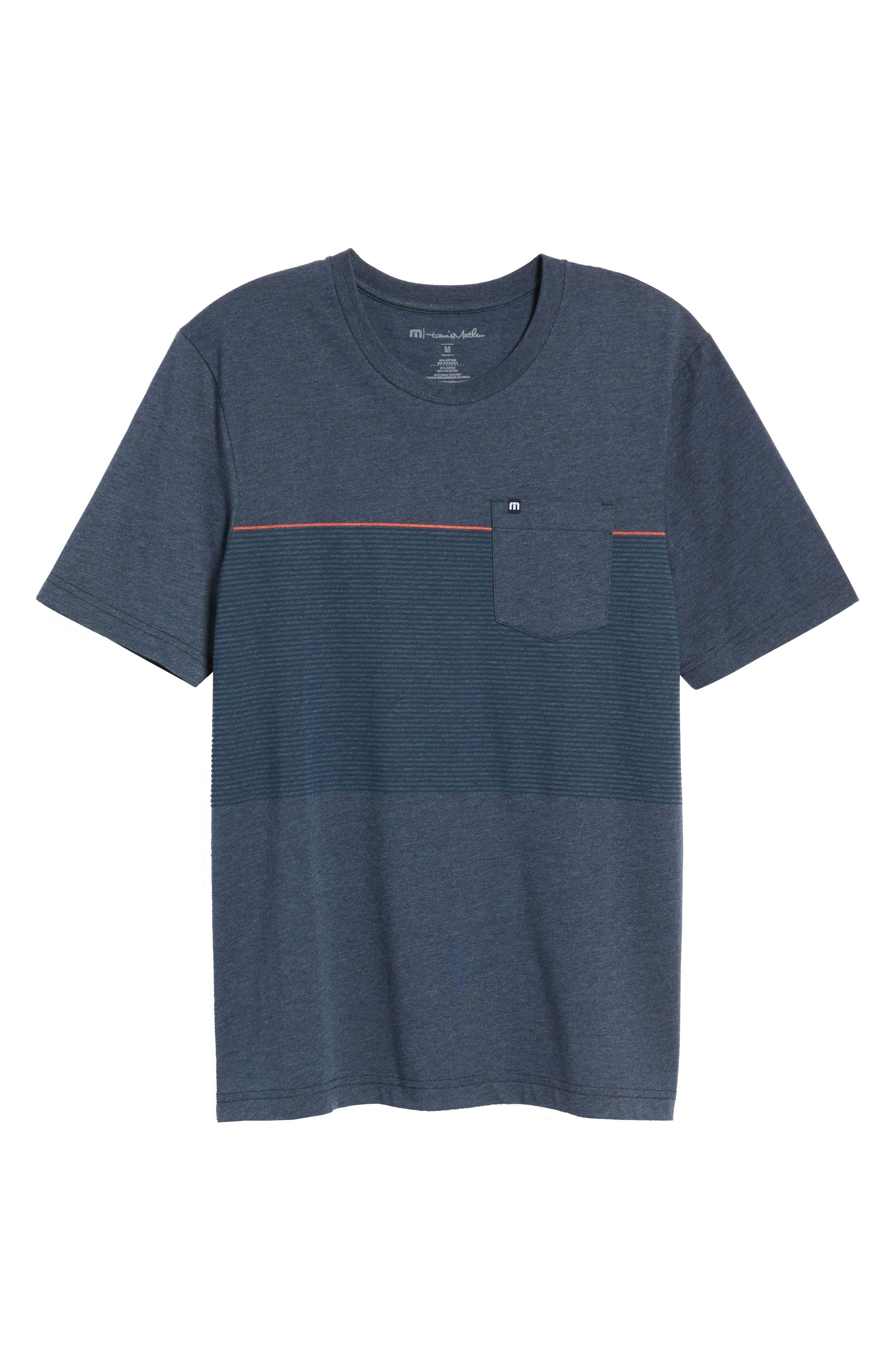 Jeramie Stripe Pocket T-Shirt,                             Alternate thumbnail 6, color,                             401