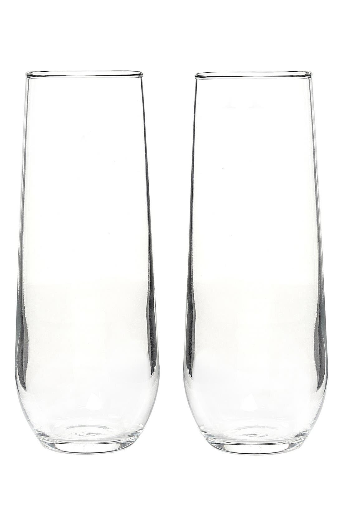 Personalized Stemless Champagne Flutes,                             Main thumbnail 1, color,                             100