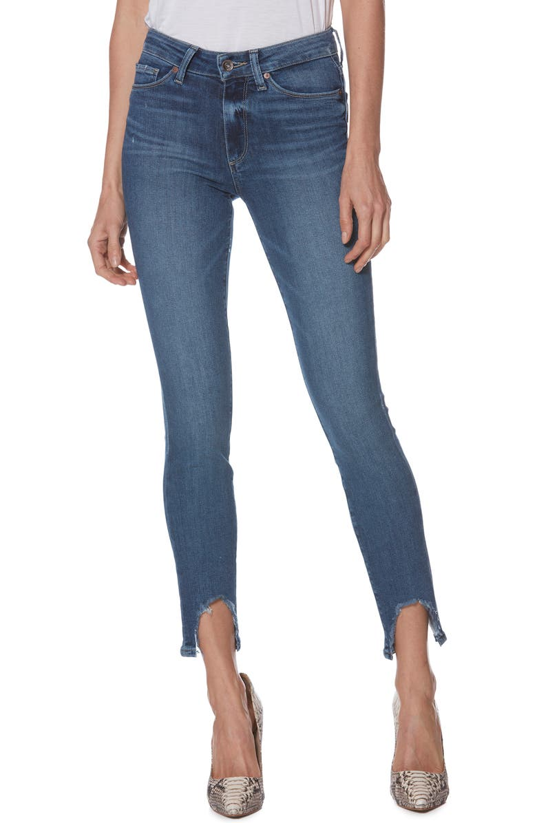 Paige HOXTON HIGH WAIST STEP HEM ANKLE PEG JEANS