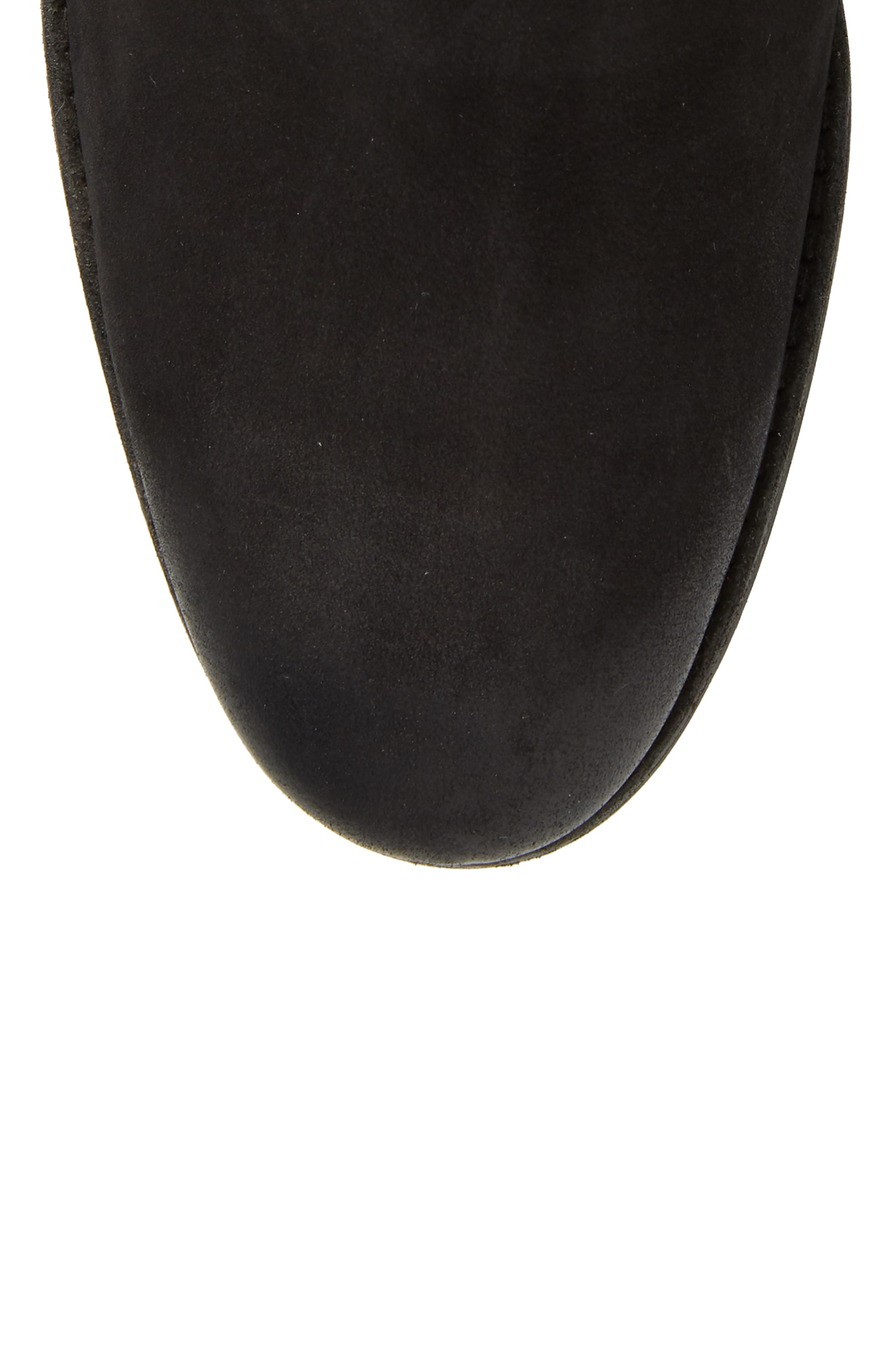 Vance Double Zipper Boot,                             Alternate thumbnail 5, color,                             BLACK LEATHER
