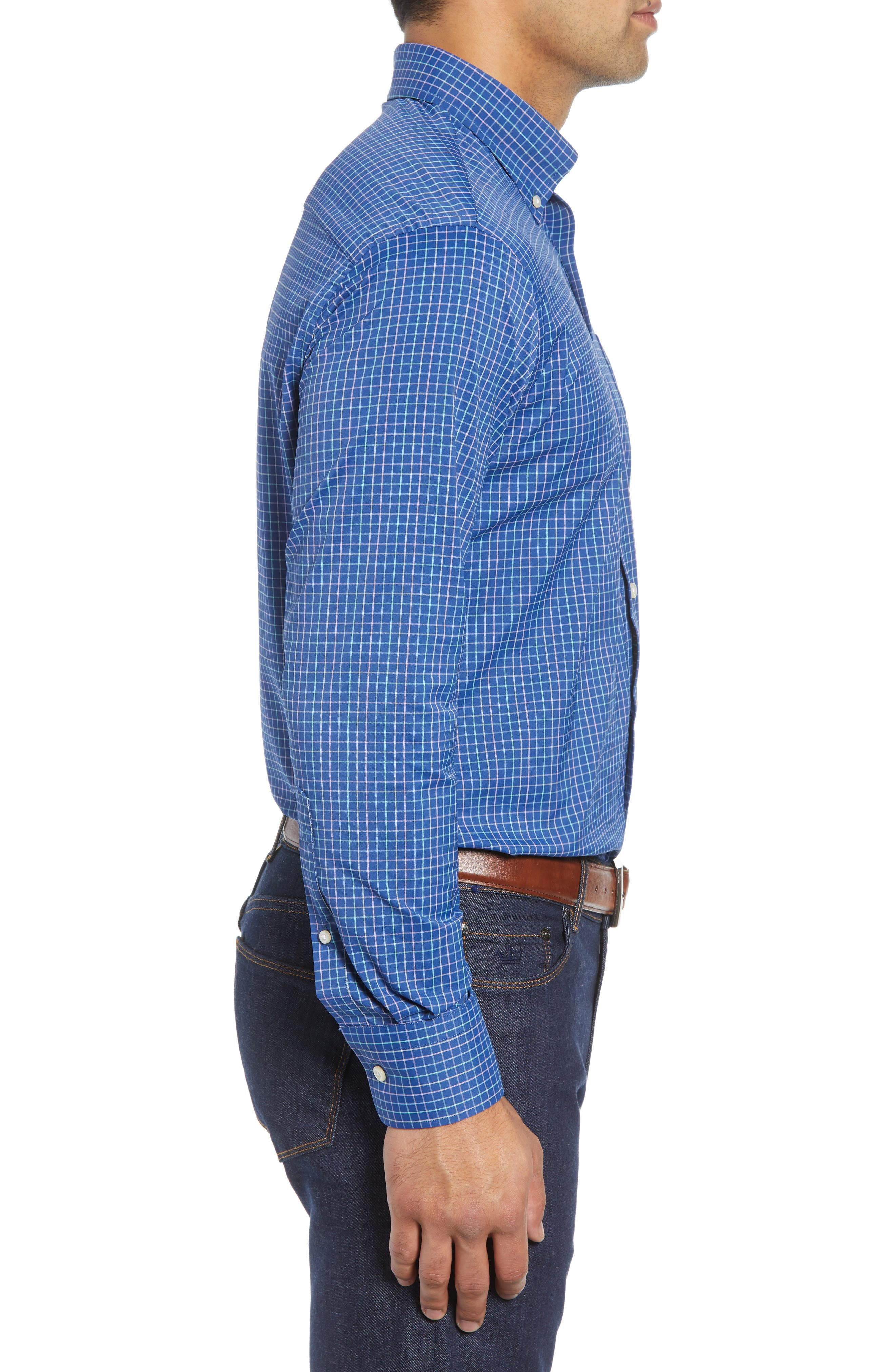 Montgomery Regular Fit Performance Sport Shirt,                             Alternate thumbnail 4, color,                             400