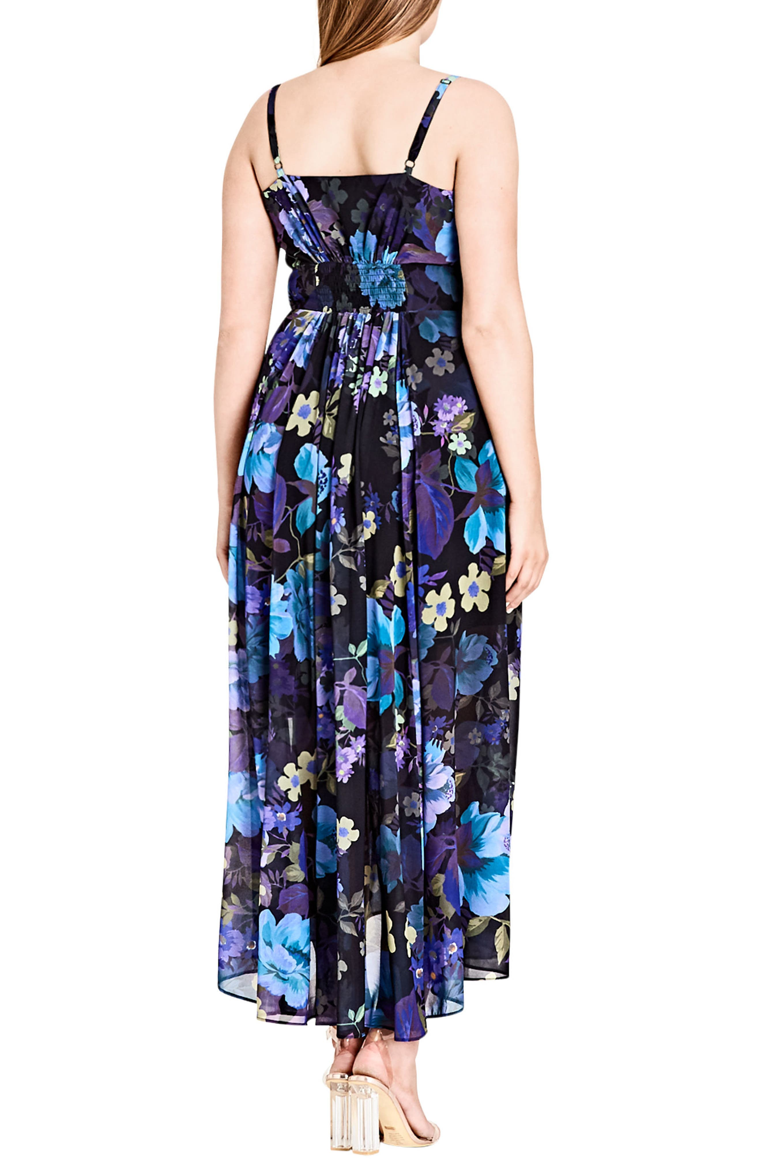 Chic City Falling Floral Maxi Dress,                             Alternate thumbnail 2, color,                             415
