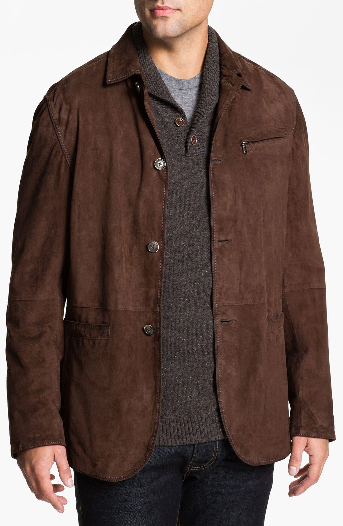 Goatskin Suede Jacket,                             Main thumbnail 1, color,                             200