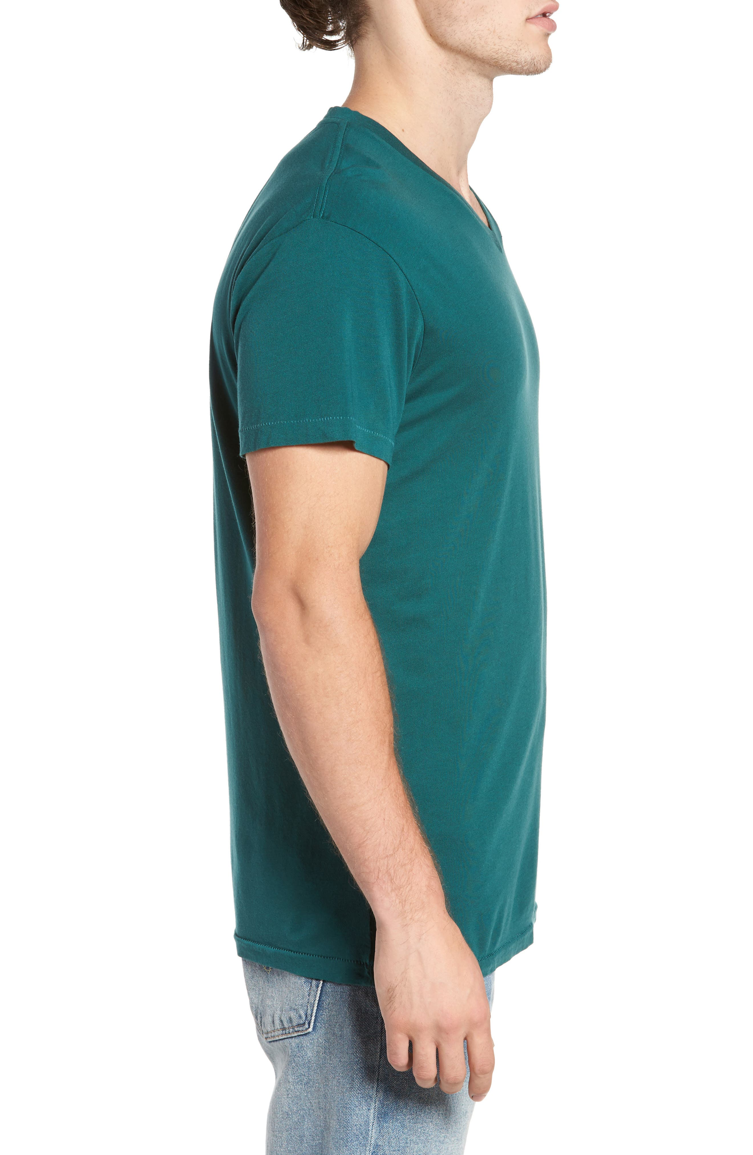 Essential V-Neck T-Shirt,                             Alternate thumbnail 3, color,                             340