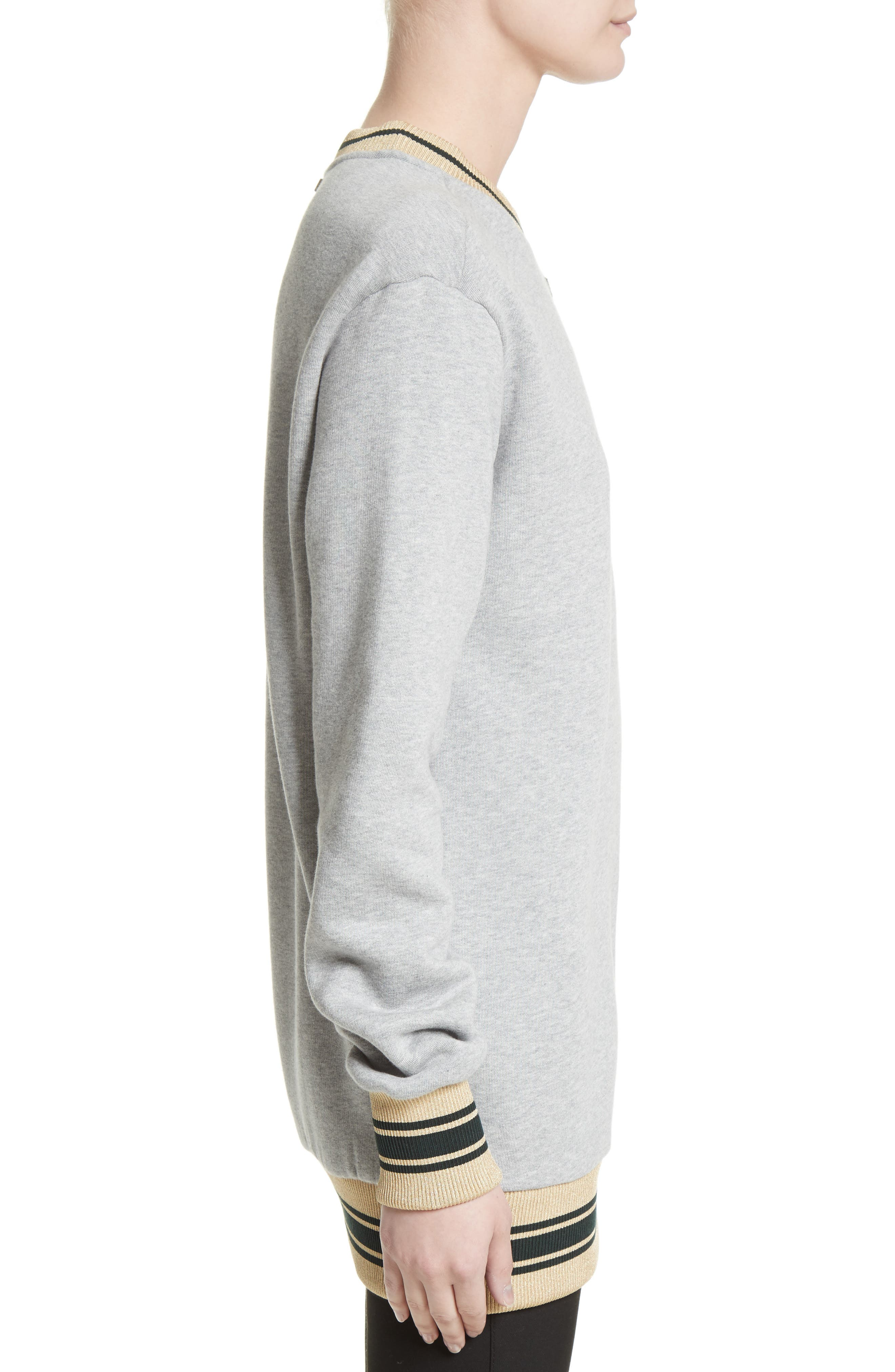Hydrangea Patch Sweatshirt,                             Alternate thumbnail 3, color,                             050
