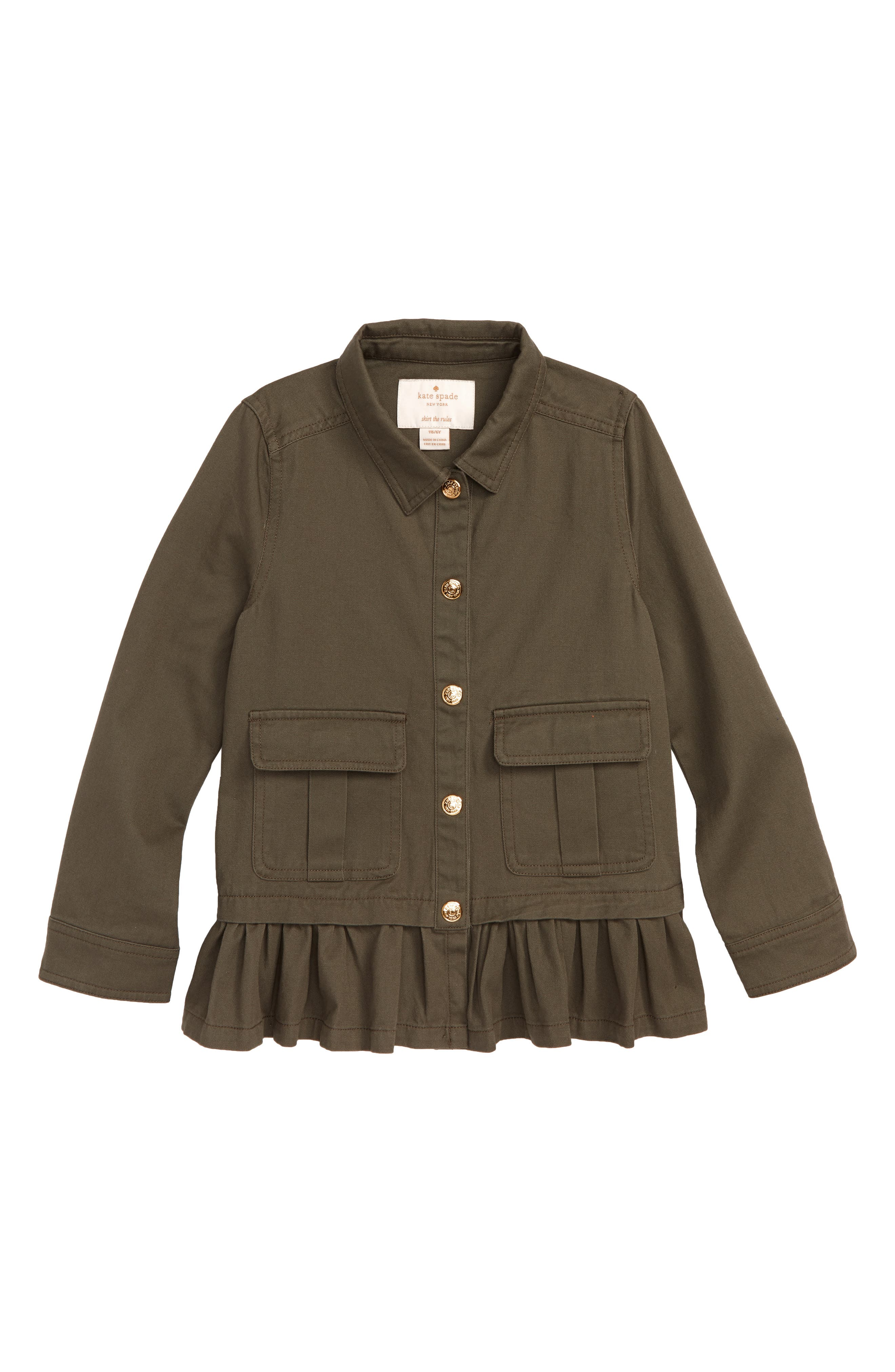 field jacket,                         Main,                         color, OLIVE GREEN