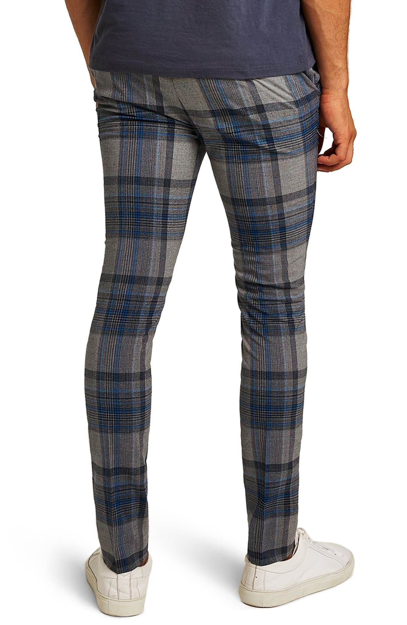 Ultra Skinny Fit Check Pants,                             Alternate thumbnail 2, color,                             020