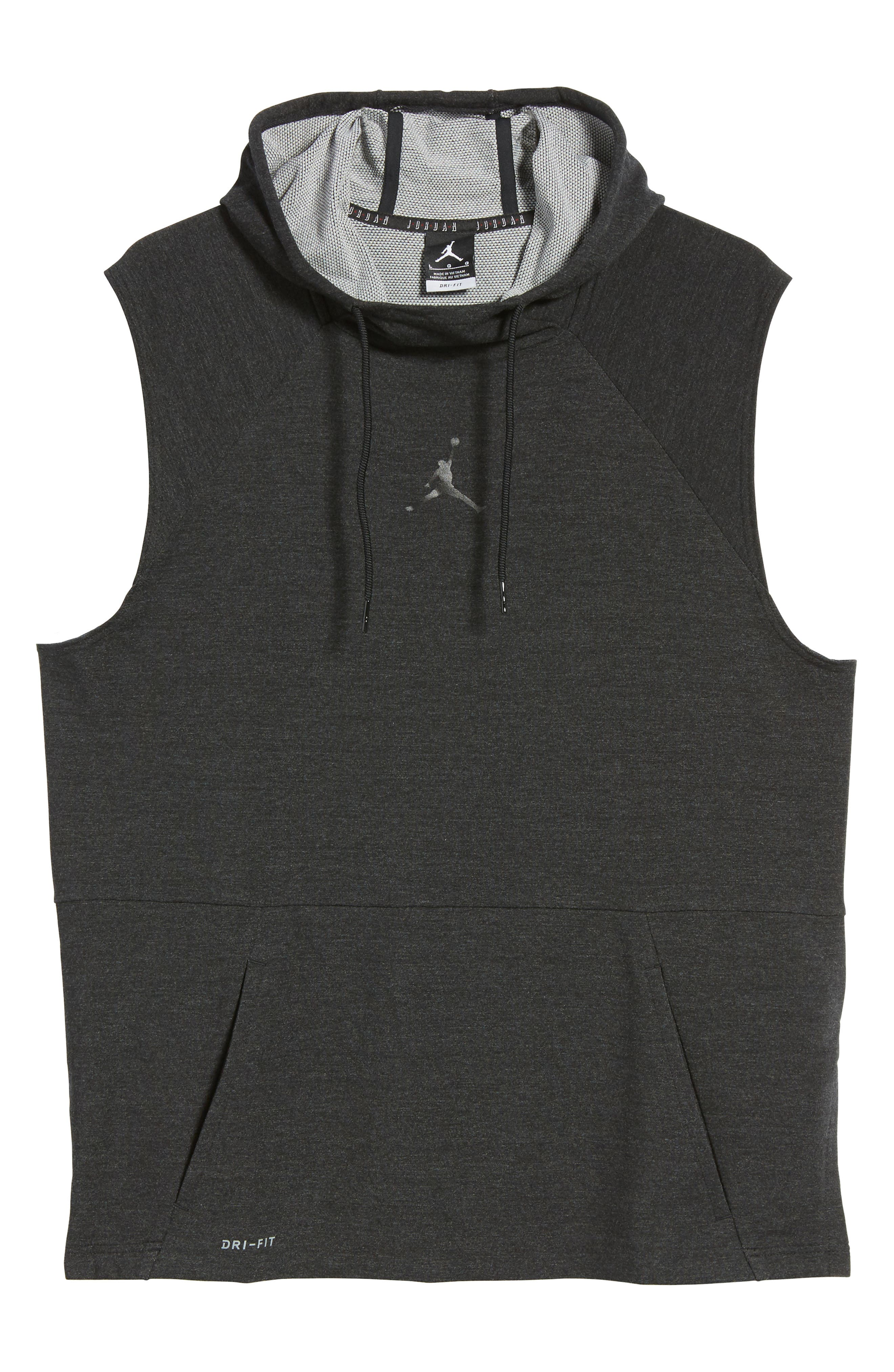 23 Tech Sphere Sleeveless Training Hoodie,                             Alternate thumbnail 6, color,                             010