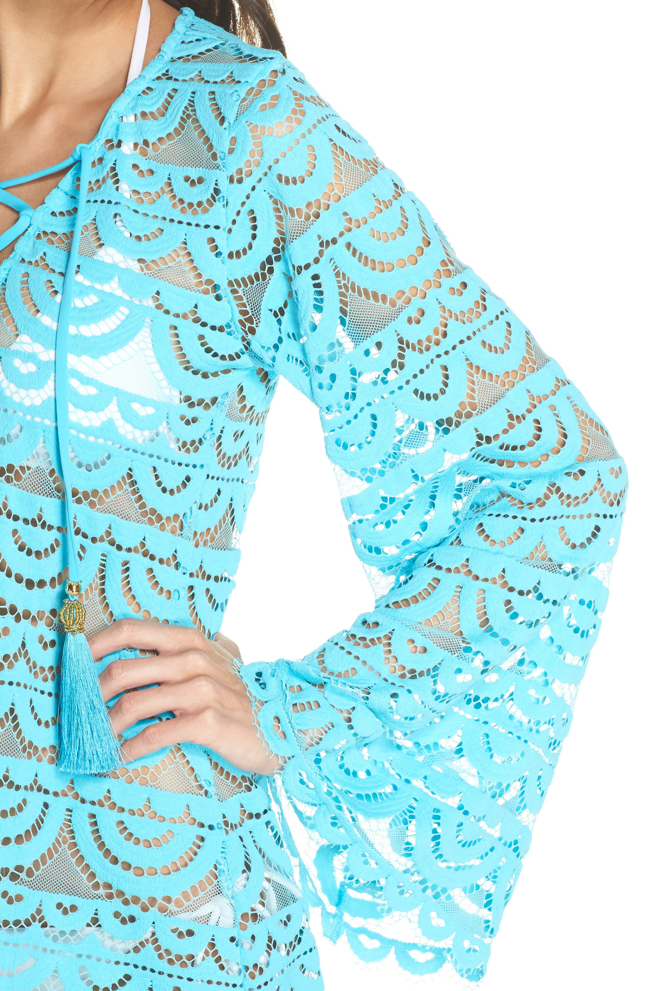 Noah Lace Cover-Up Tunic,                             Alternate thumbnail 4, color,