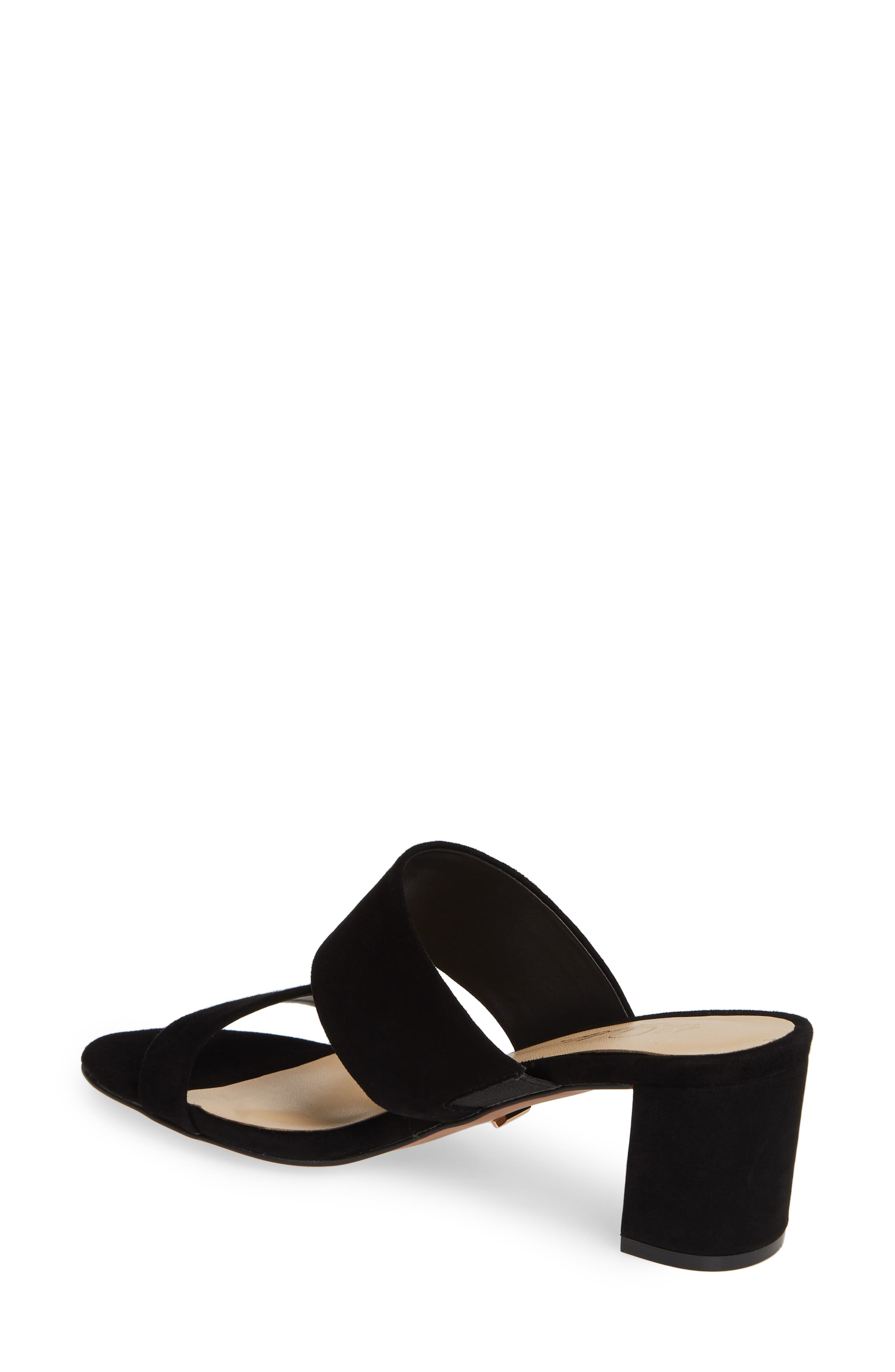 42 GOLD,                             Liya Slide Sandal,                             Alternate thumbnail 2, color,                             BLACK SUEDE