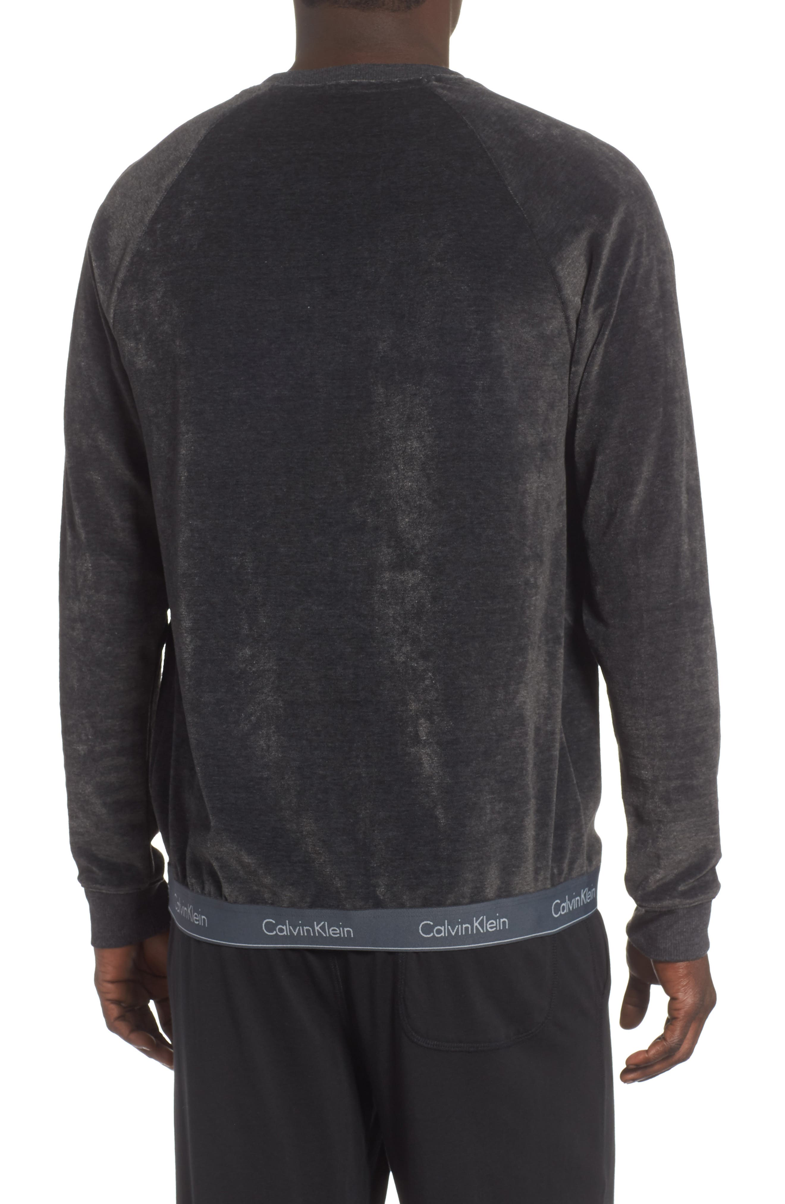 Crewneck Sweatshirt,                             Alternate thumbnail 2, color,                             WASHED BLACK
