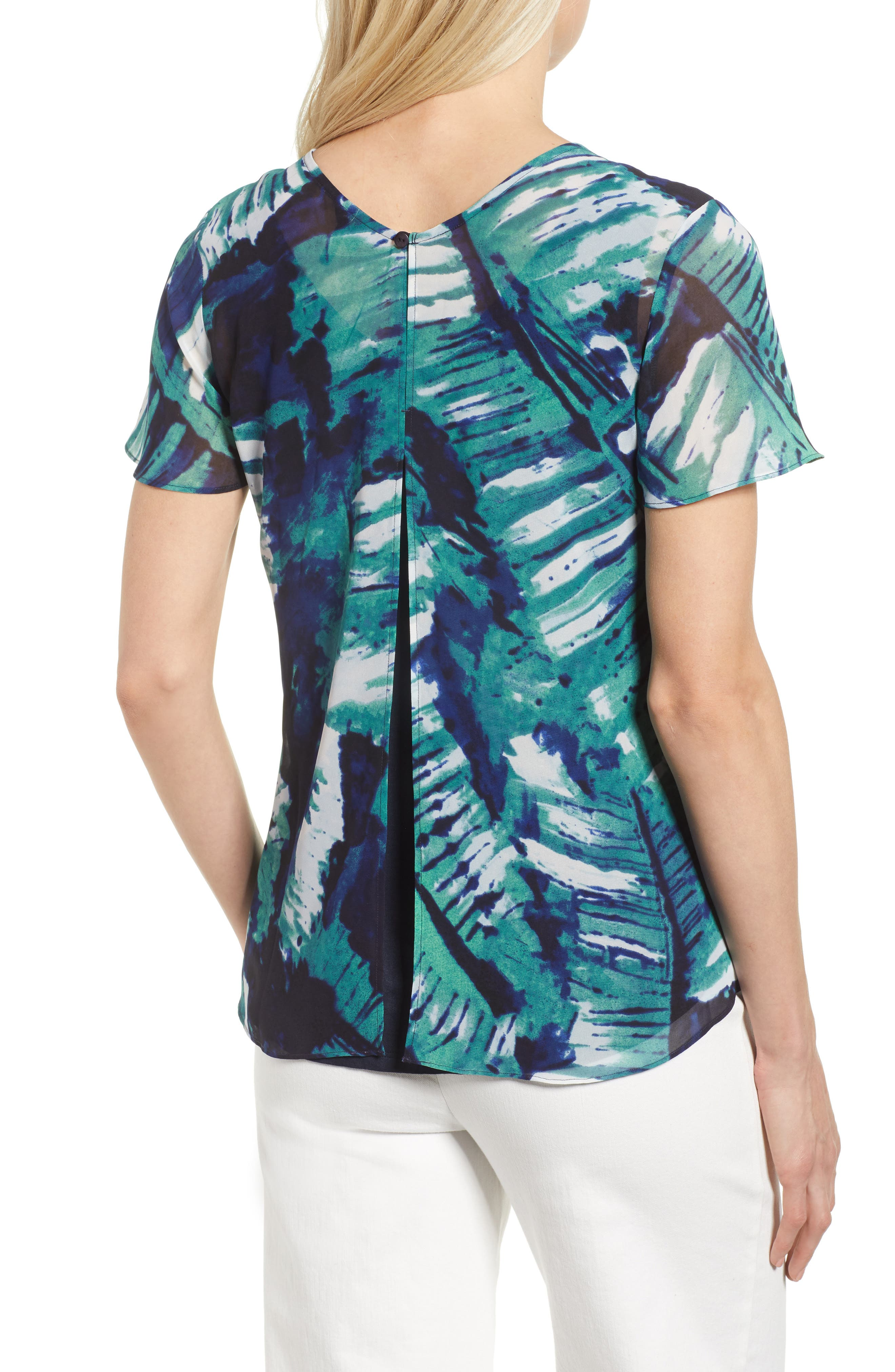Leaf an Impression Print Top,                             Alternate thumbnail 2, color,                             390