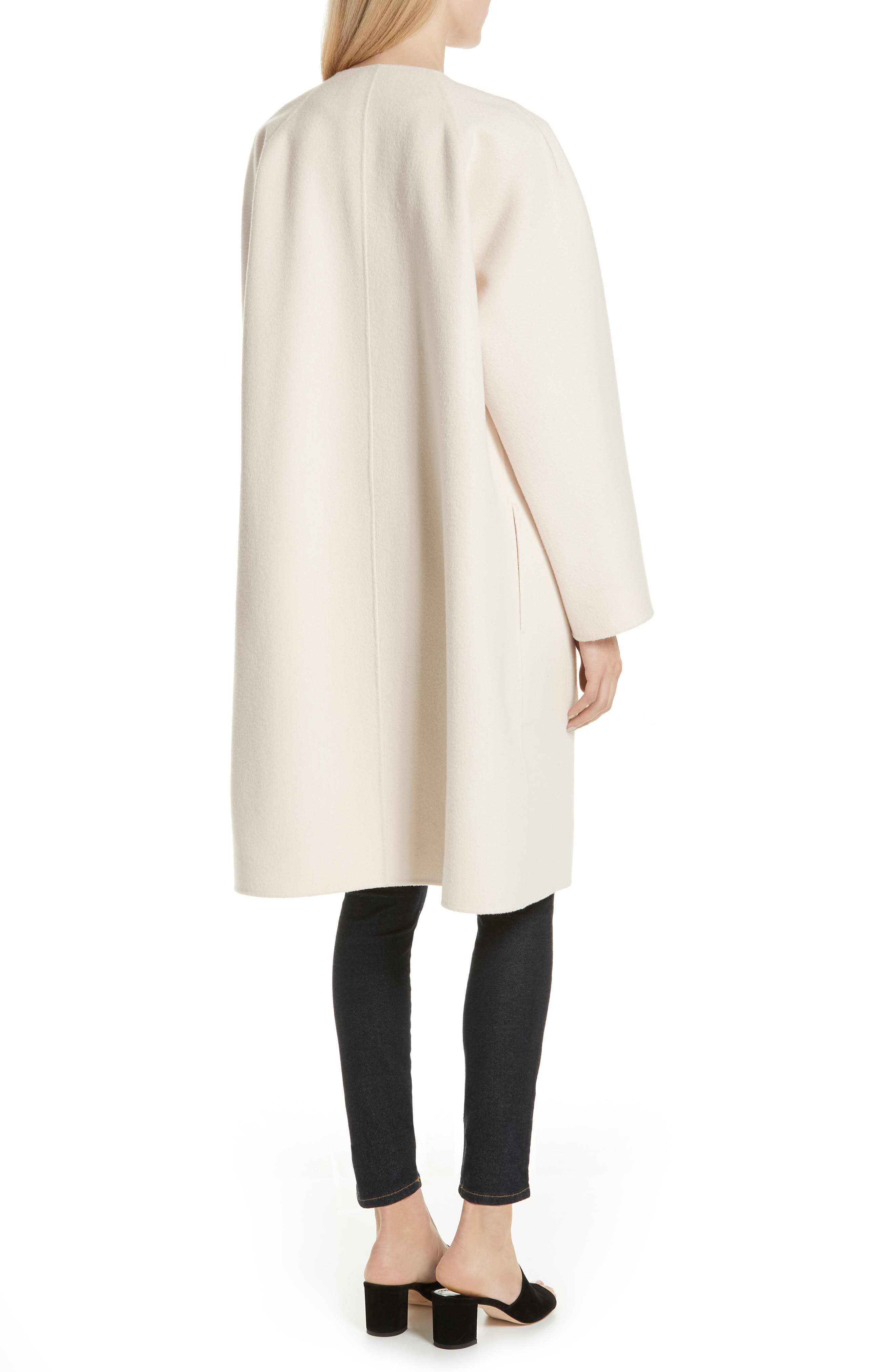 Rounded Double Face Wool & Cashmere Coat,                             Alternate thumbnail 2, color,                             900