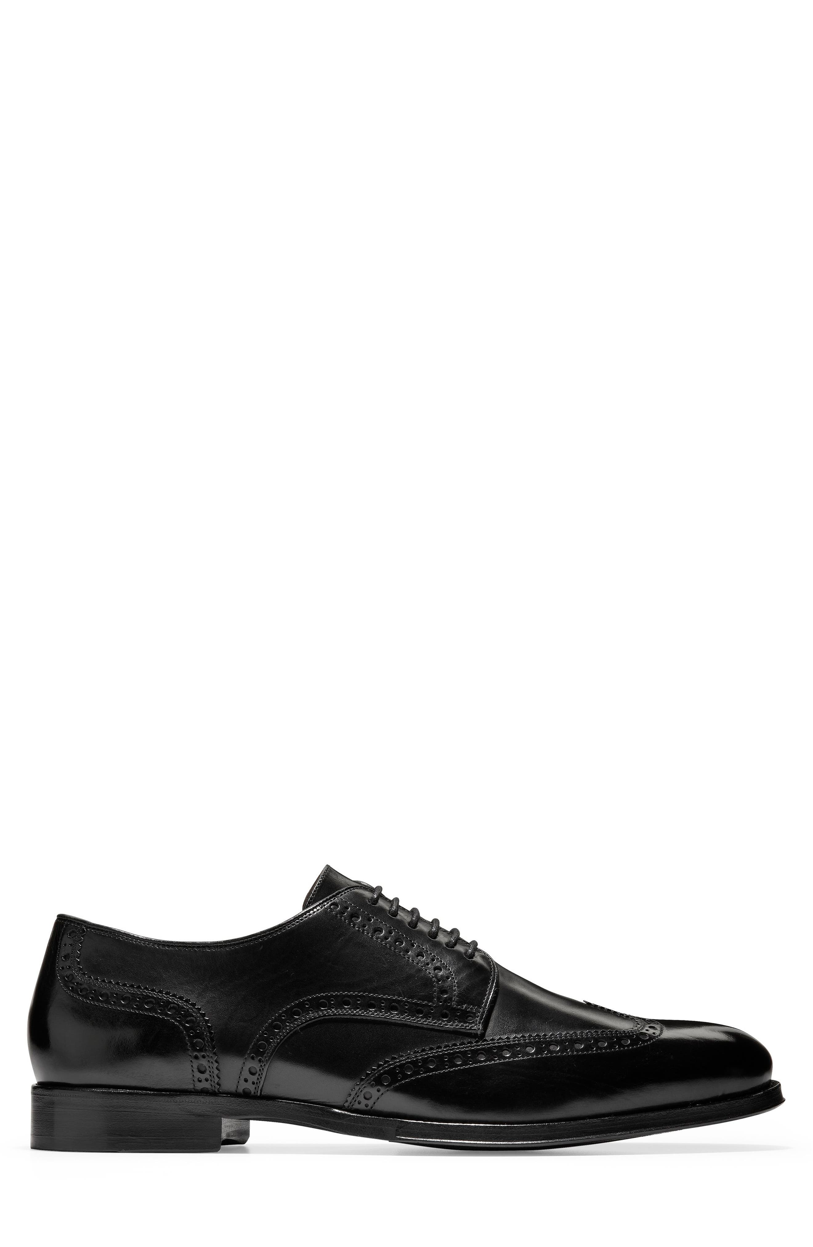American Classics Grammercy Wingtip,                             Alternate thumbnail 3, color,                             BLACK LEATHER