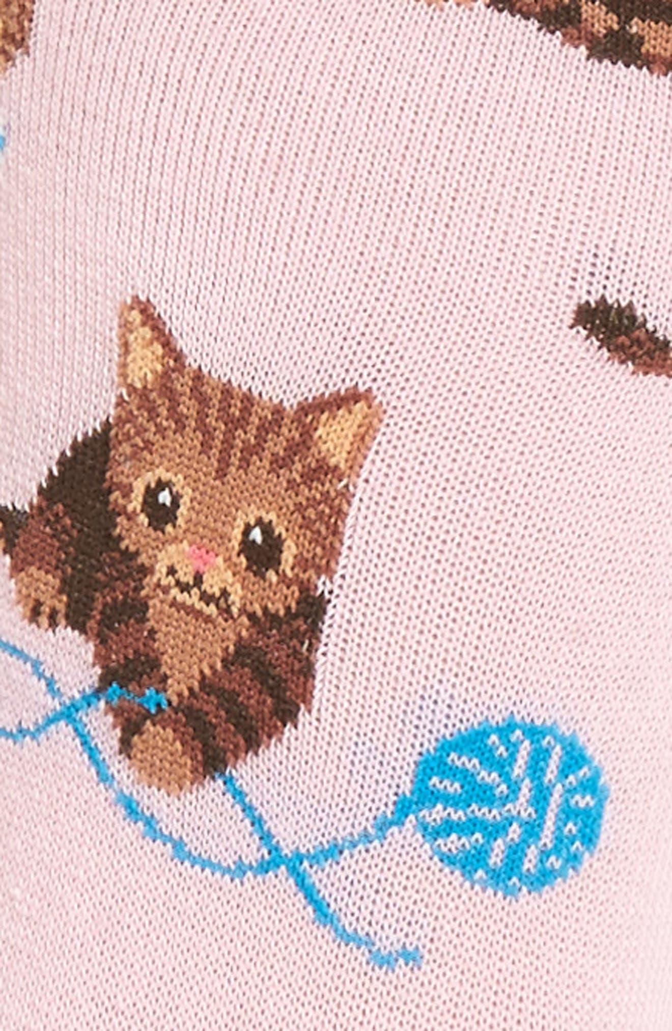 Cat & Yarn Crew Socks,                             Alternate thumbnail 6, color,