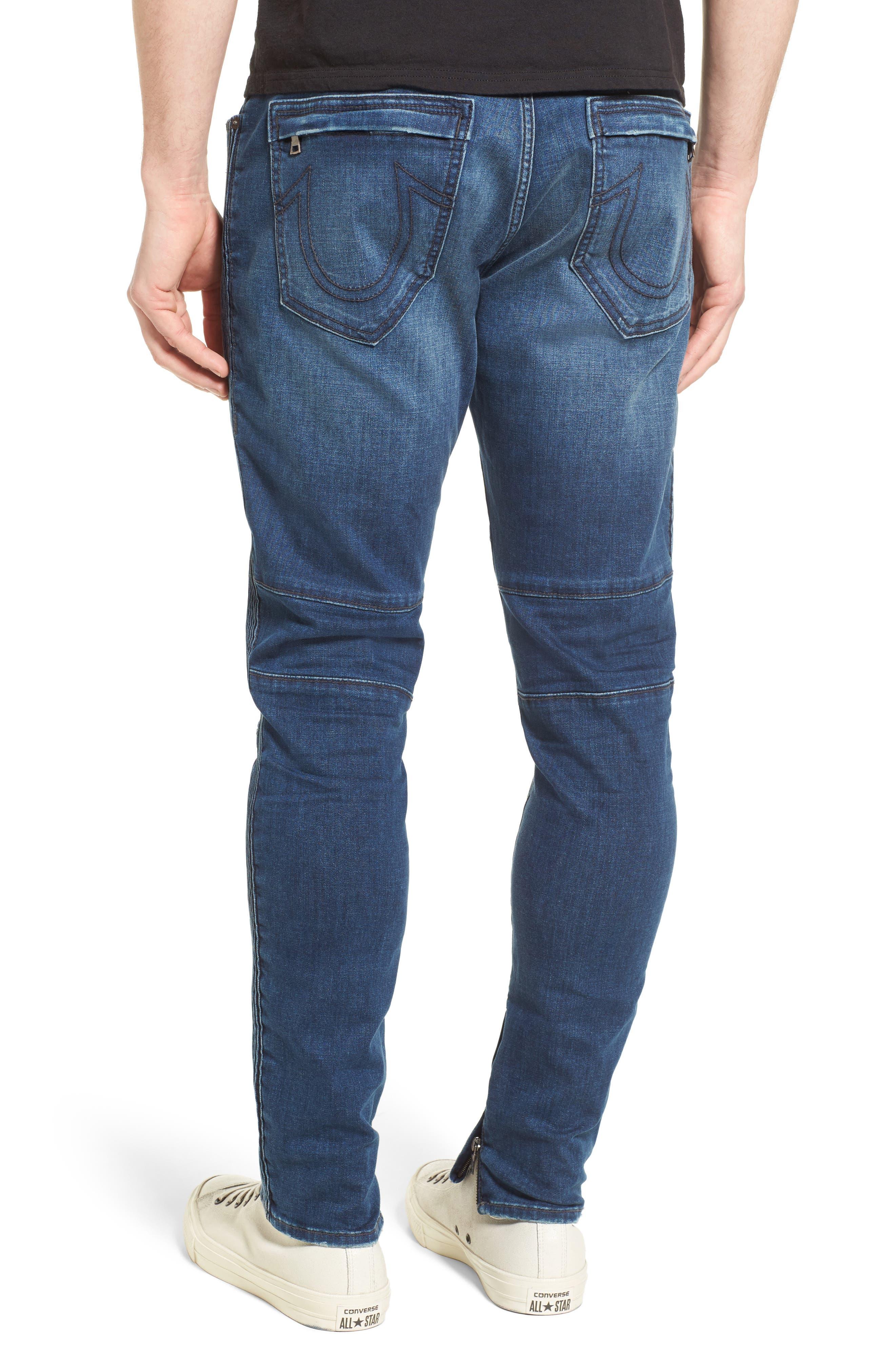 Racer Skinny Fit Jeans,                             Alternate thumbnail 2, color,                             WHISKEY BLUES