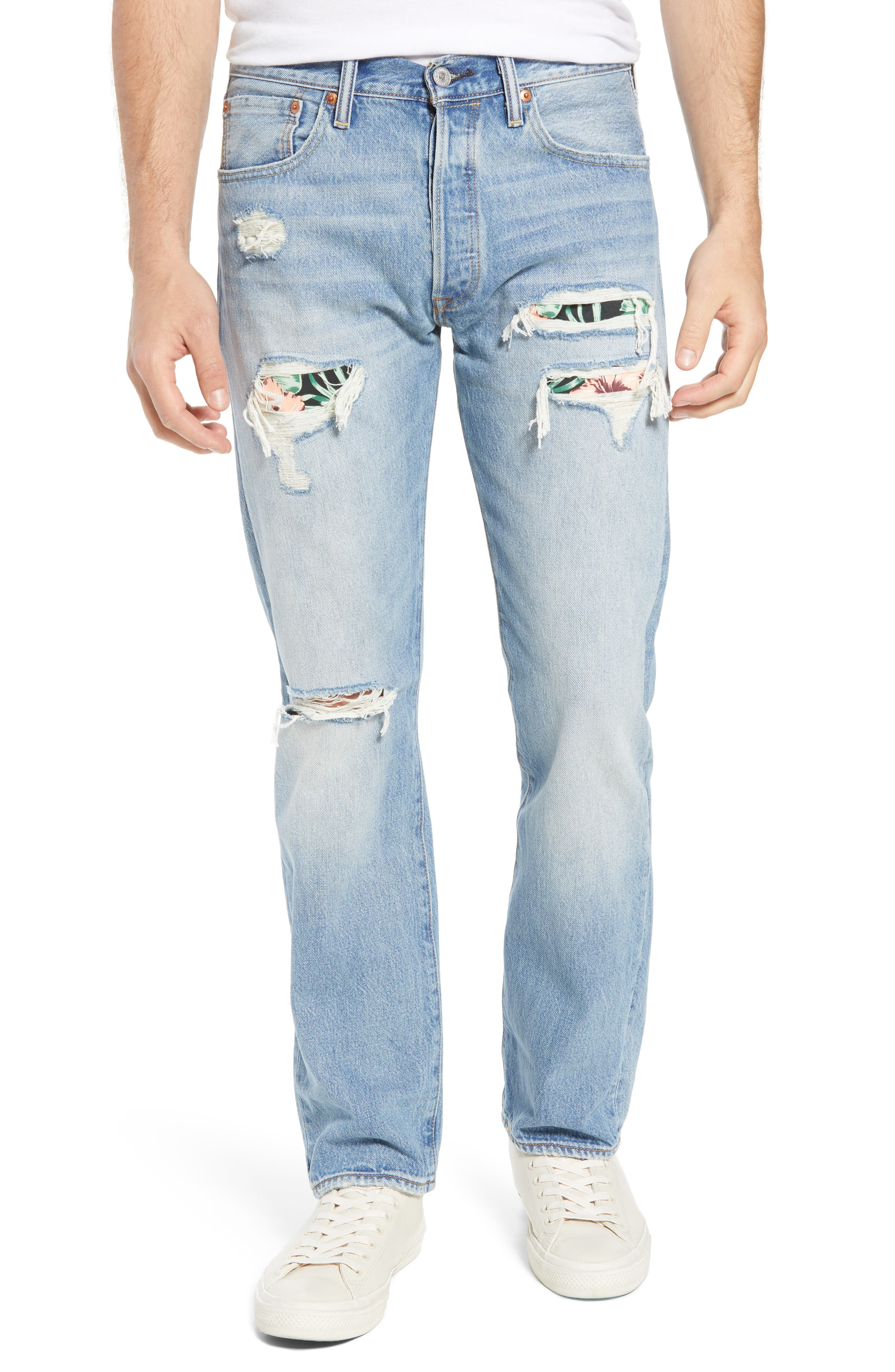 501<sup>®</sup> Original Straight Leg Jeans,                         Main,                         color, 421