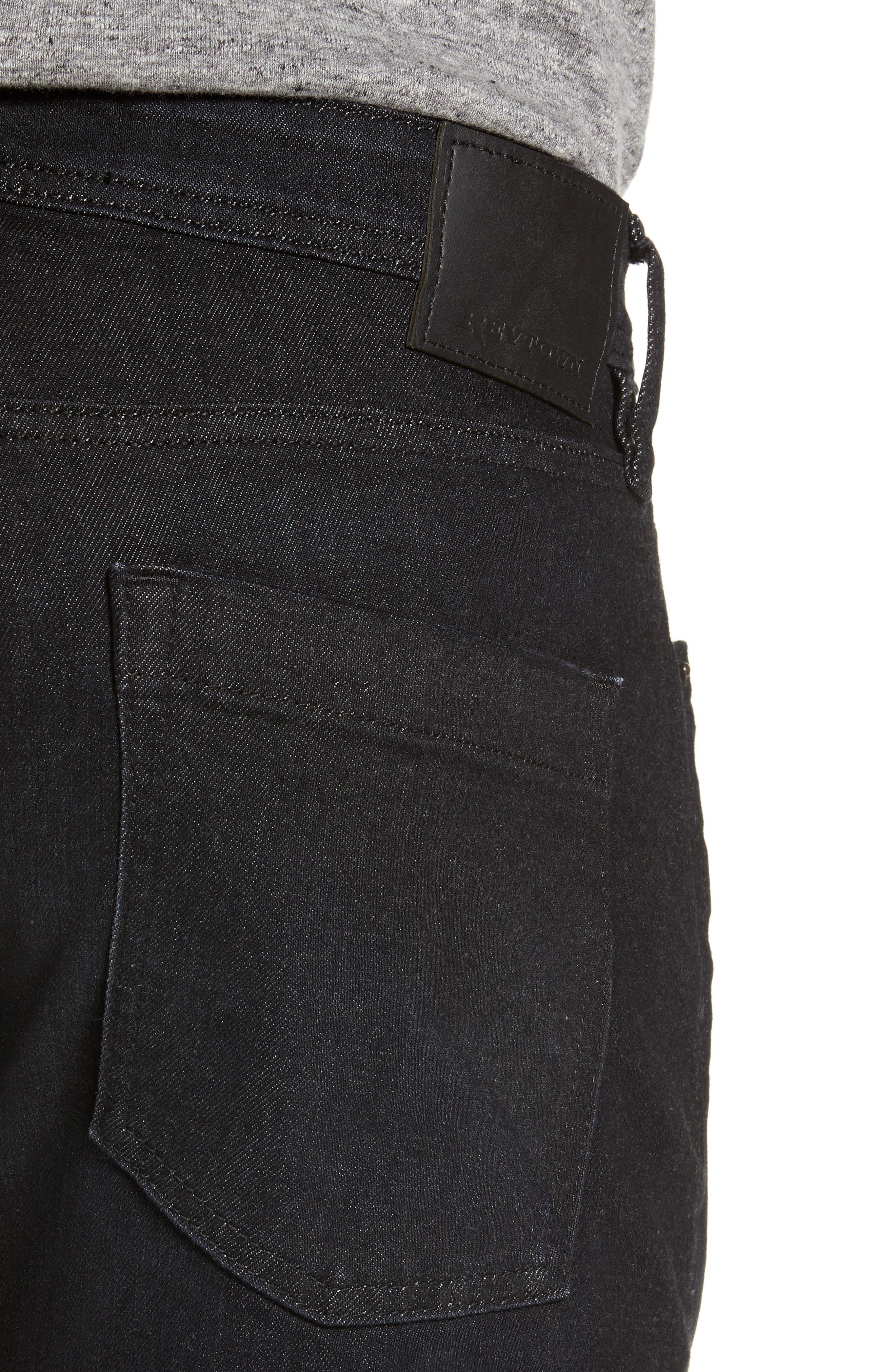 REVTOWN,                             Sharp Slim Fit Jeans,                             Alternate thumbnail 4, color,                             COAL BLACK