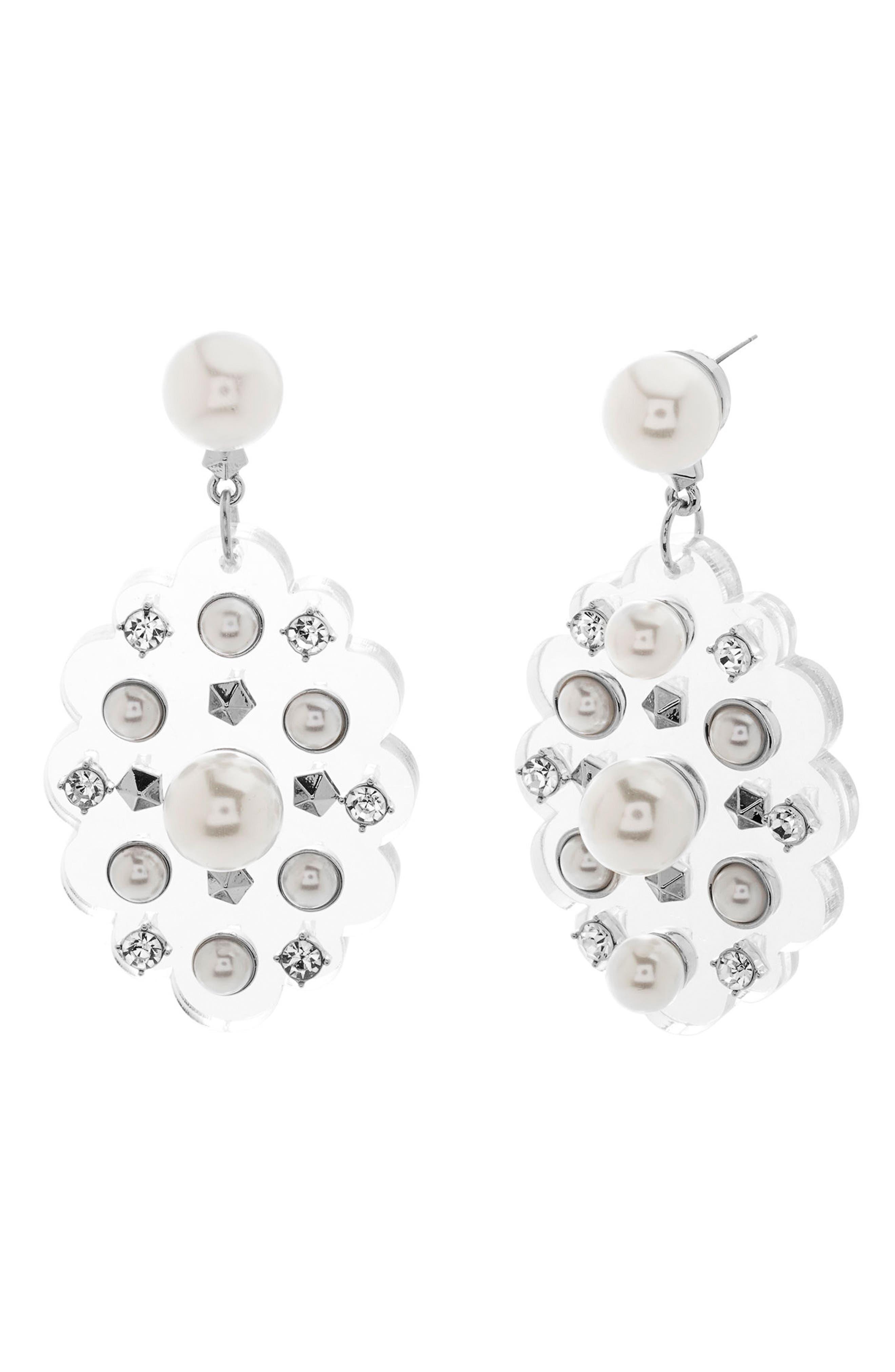Crystal Drop Earrings,                             Main thumbnail 1, color,                             900