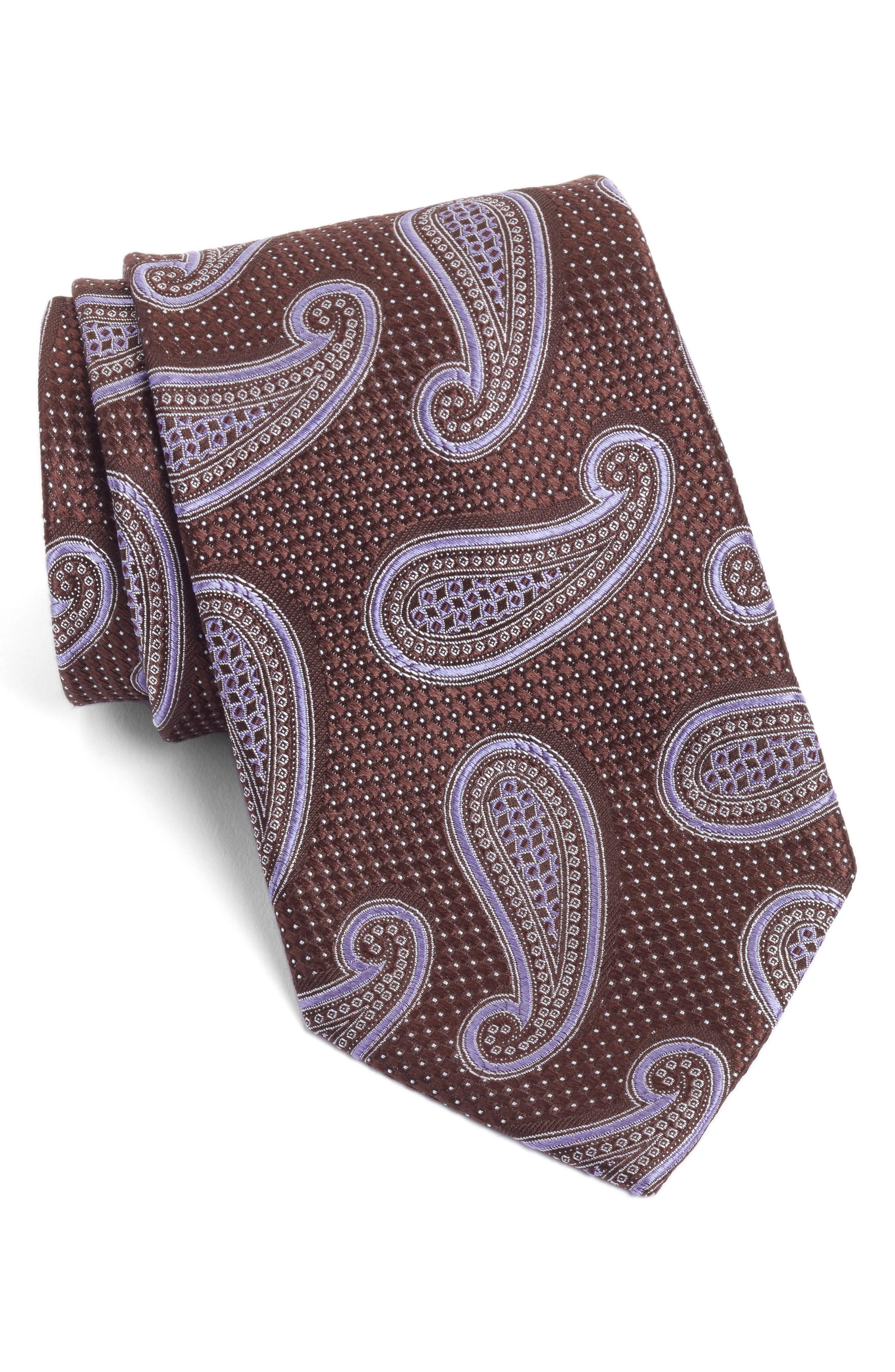 Paisley Silk Tie,                         Main,                         color, 200