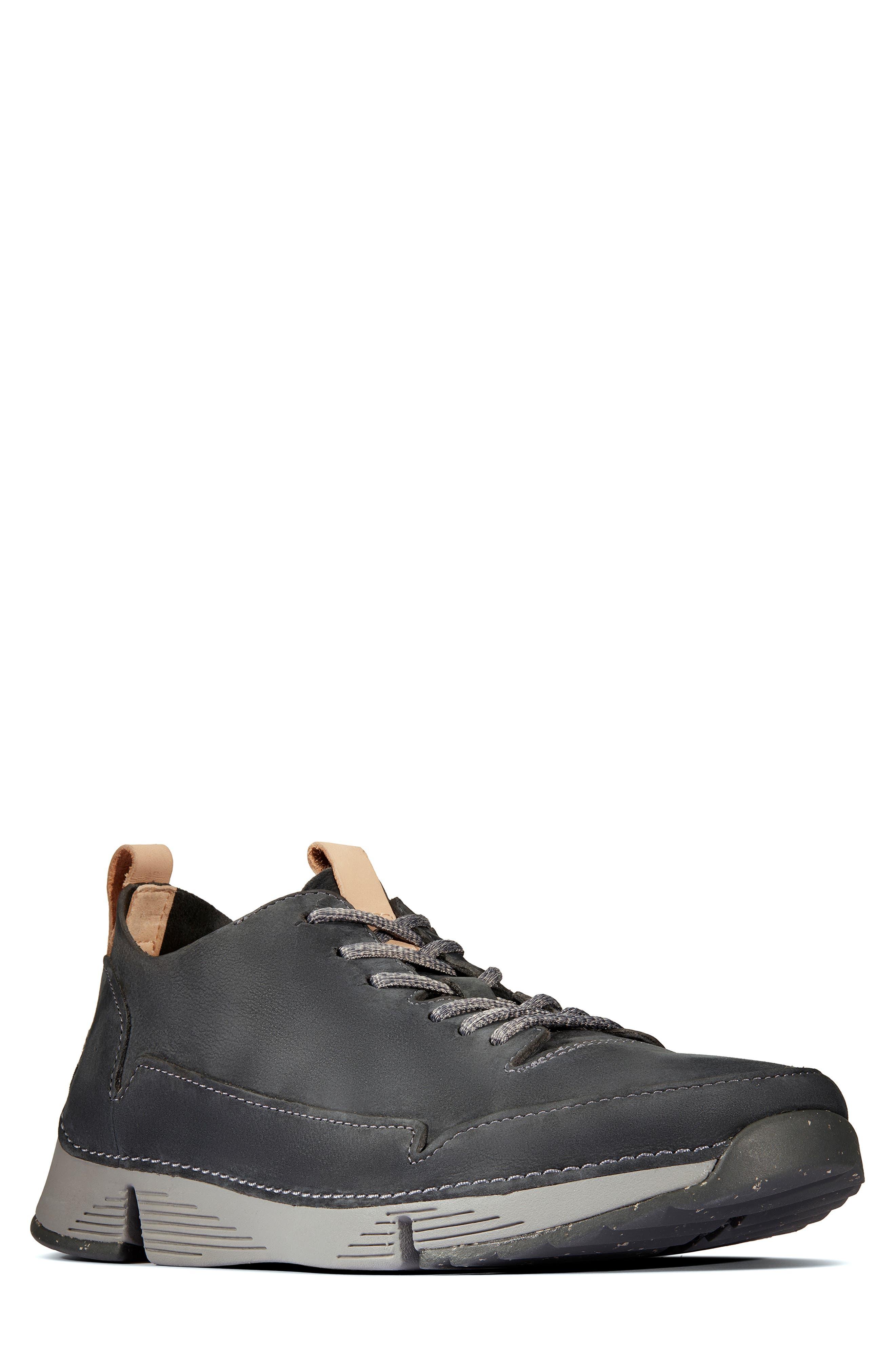 Tri Active Run Sneaker,                             Main thumbnail 1, color,                             GREY LEATHER