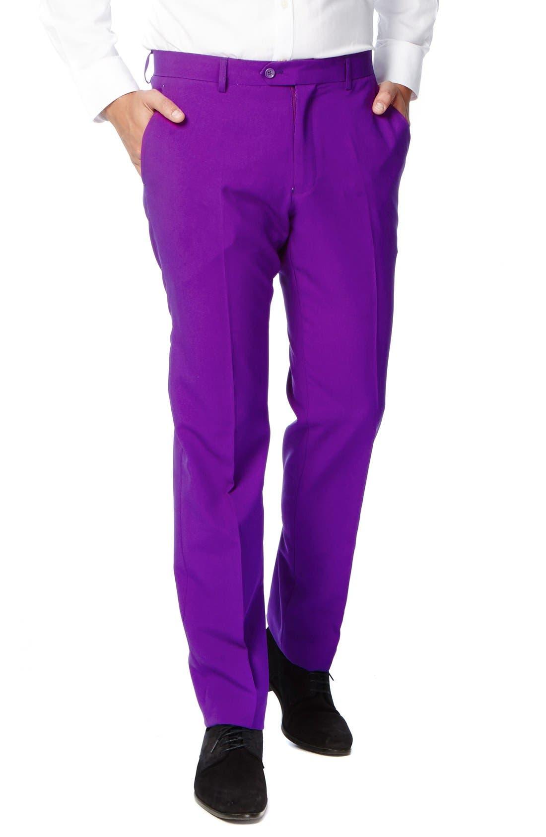 'Purple Prince' Trim Fit Two-Piece Suit with Tie,                             Alternate thumbnail 3, color,                             500