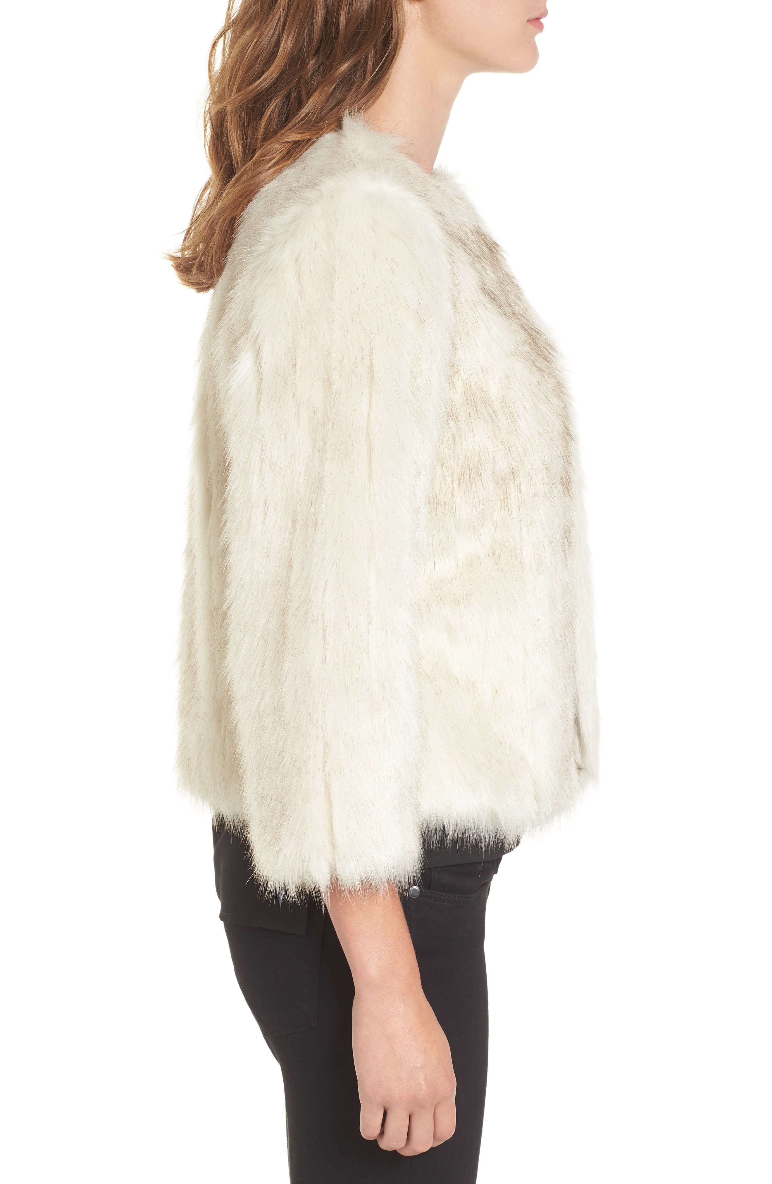 Winter Faux Fur Jacket,                             Alternate thumbnail 3, color,