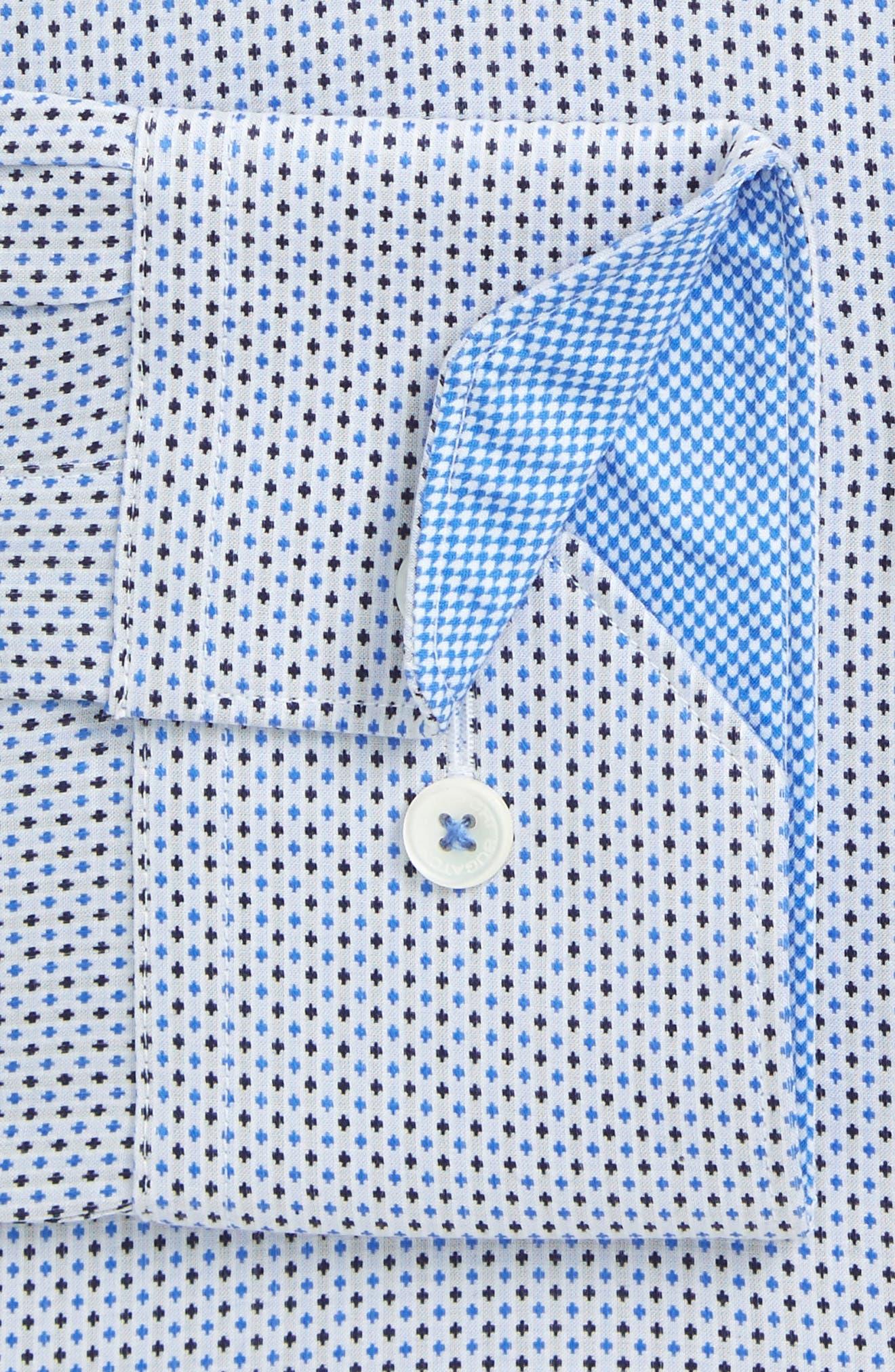 Trim Fit Dot Dress Shirt,                         Main,                         color, 459