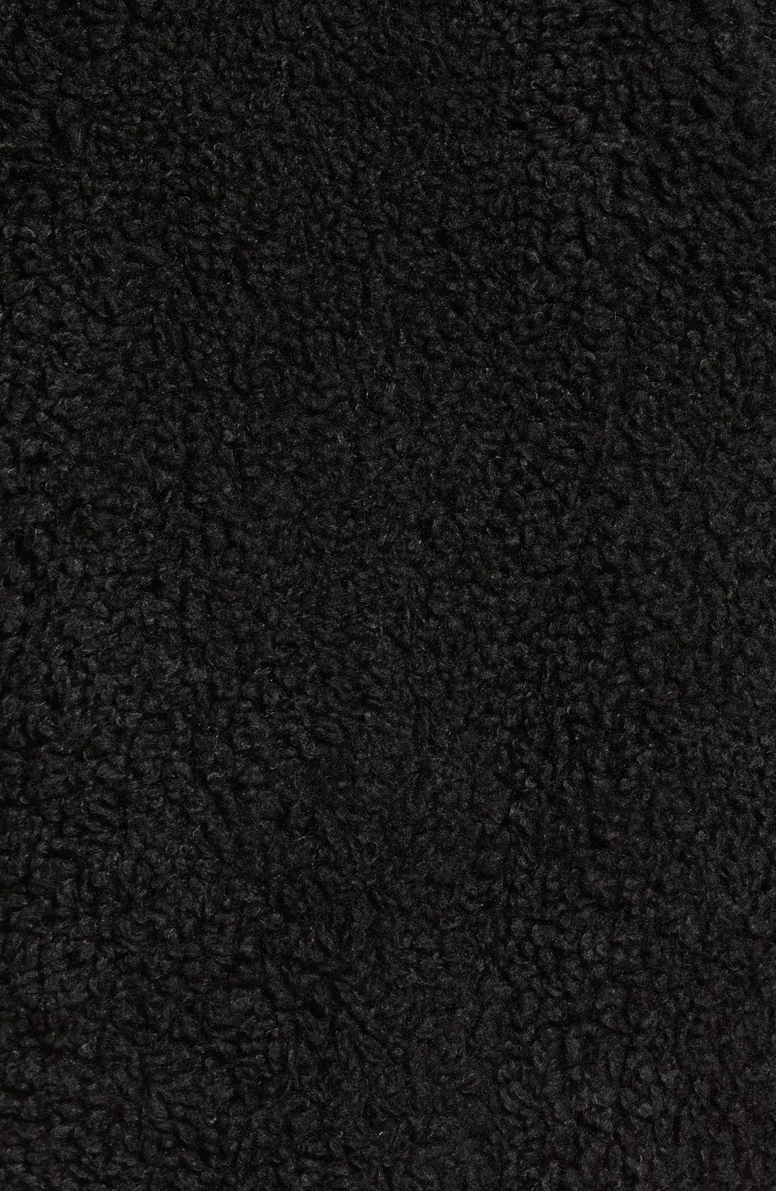 KENSIE,                             'Teddy Bear' Notch Collar Reversible Faux Fur Coat,                             Alternate thumbnail 3, color,                             001