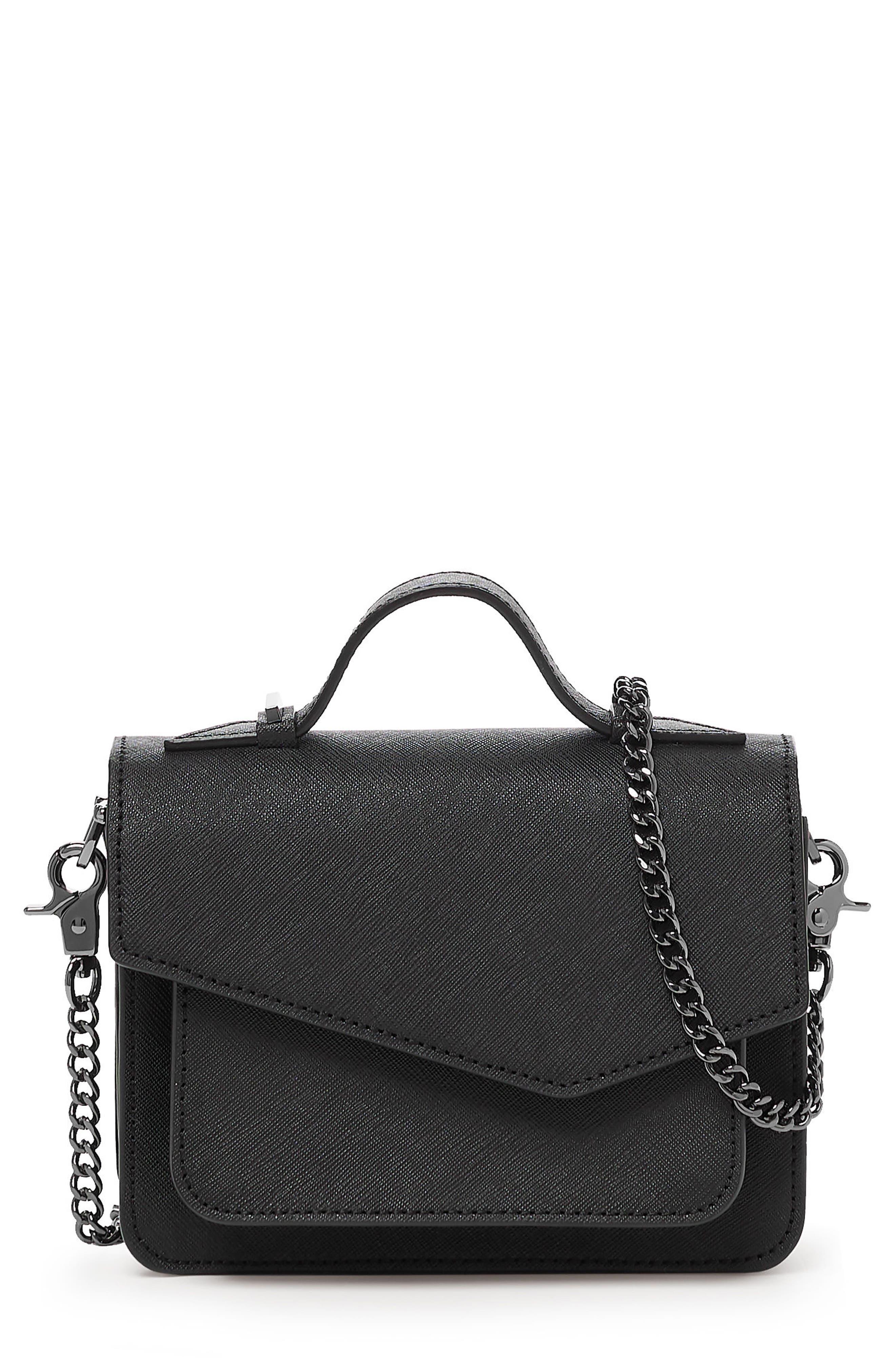 Mini Cobble Hill Calfskin Leather Crossbody Bag,                             Main thumbnail 1, color,                             001