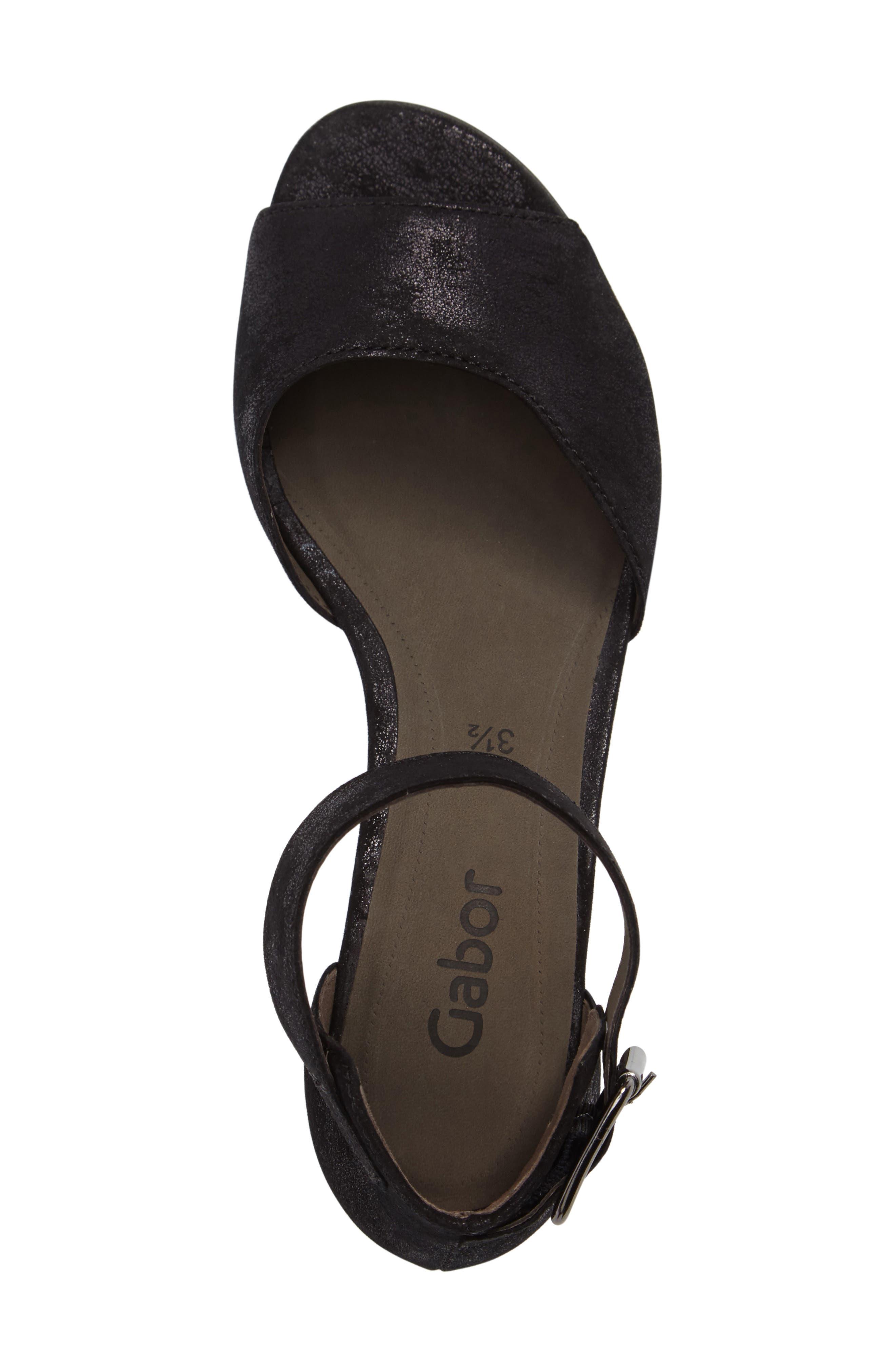 Ankle Strap Sandal,                             Alternate thumbnail 3, color,                             001
