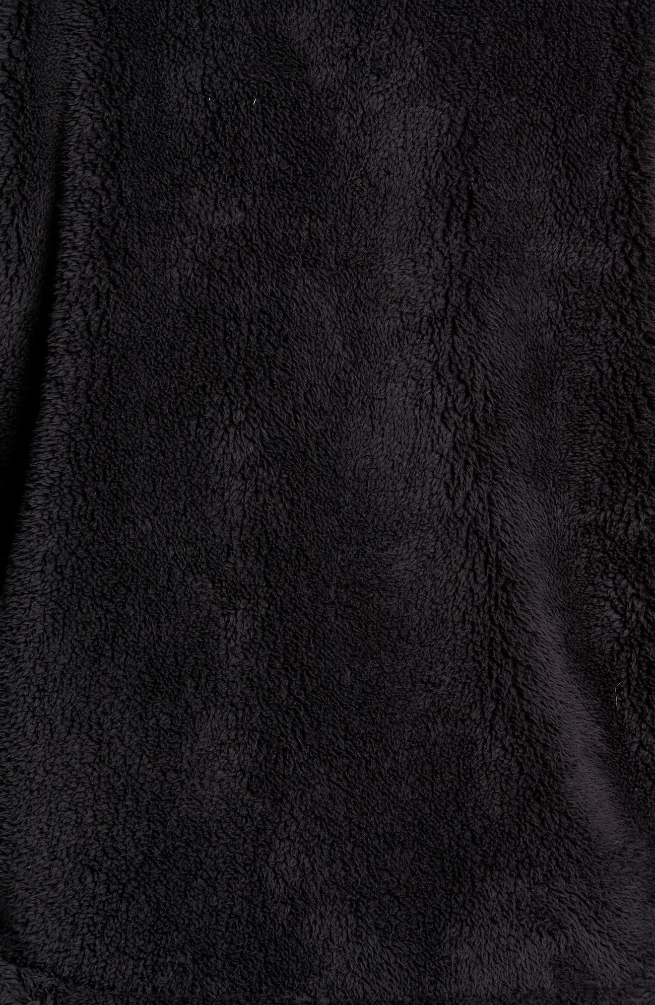 Breakheart Zip Fleece Jacket,                             Alternate thumbnail 5, color,                             001