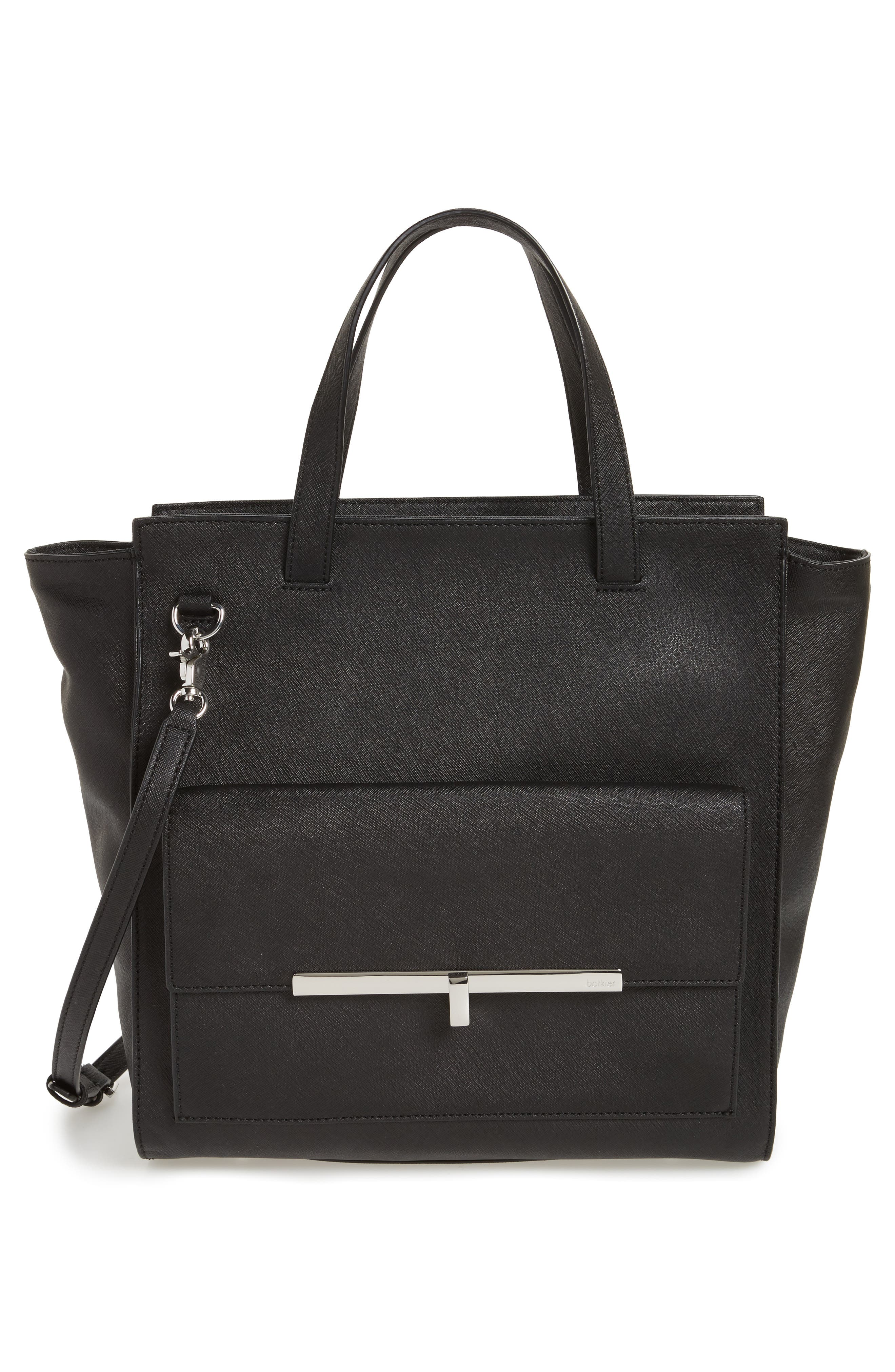 Jagger Leather Tote,                             Alternate thumbnail 3, color,                             001