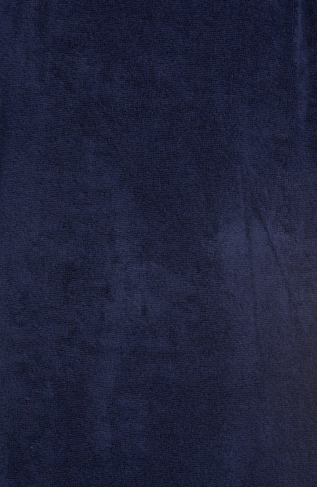 Hydro Cotton Terry Robe,                             Alternate thumbnail 9, color,                             NAVY