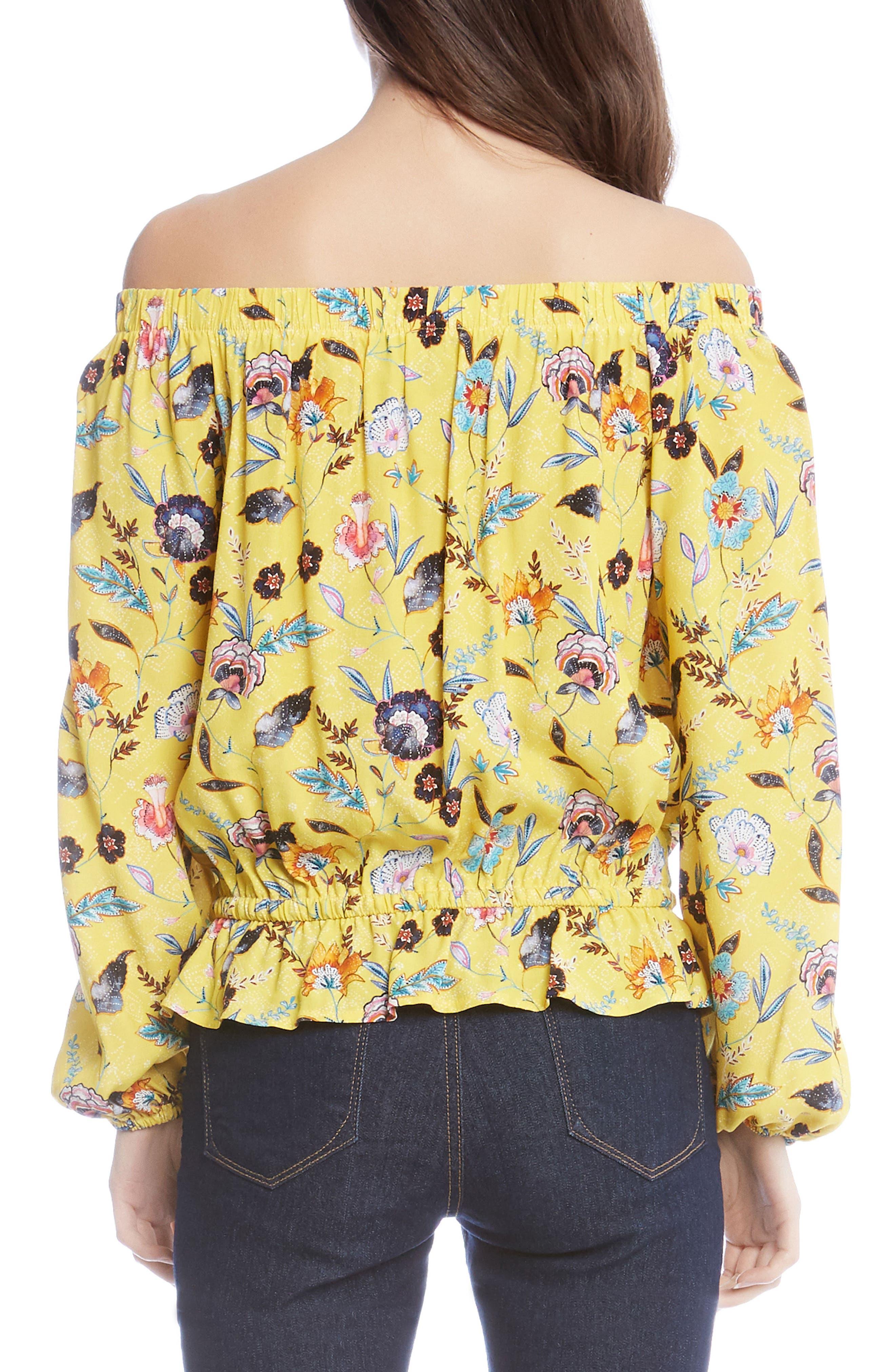 Lemonade Floral Blouson Top,                             Alternate thumbnail 2, color,                             760