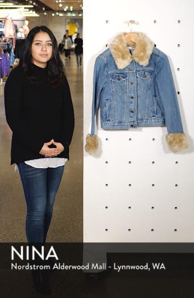 Aussie Faux Fur Trim Denim Jacket, sales video thumbnail