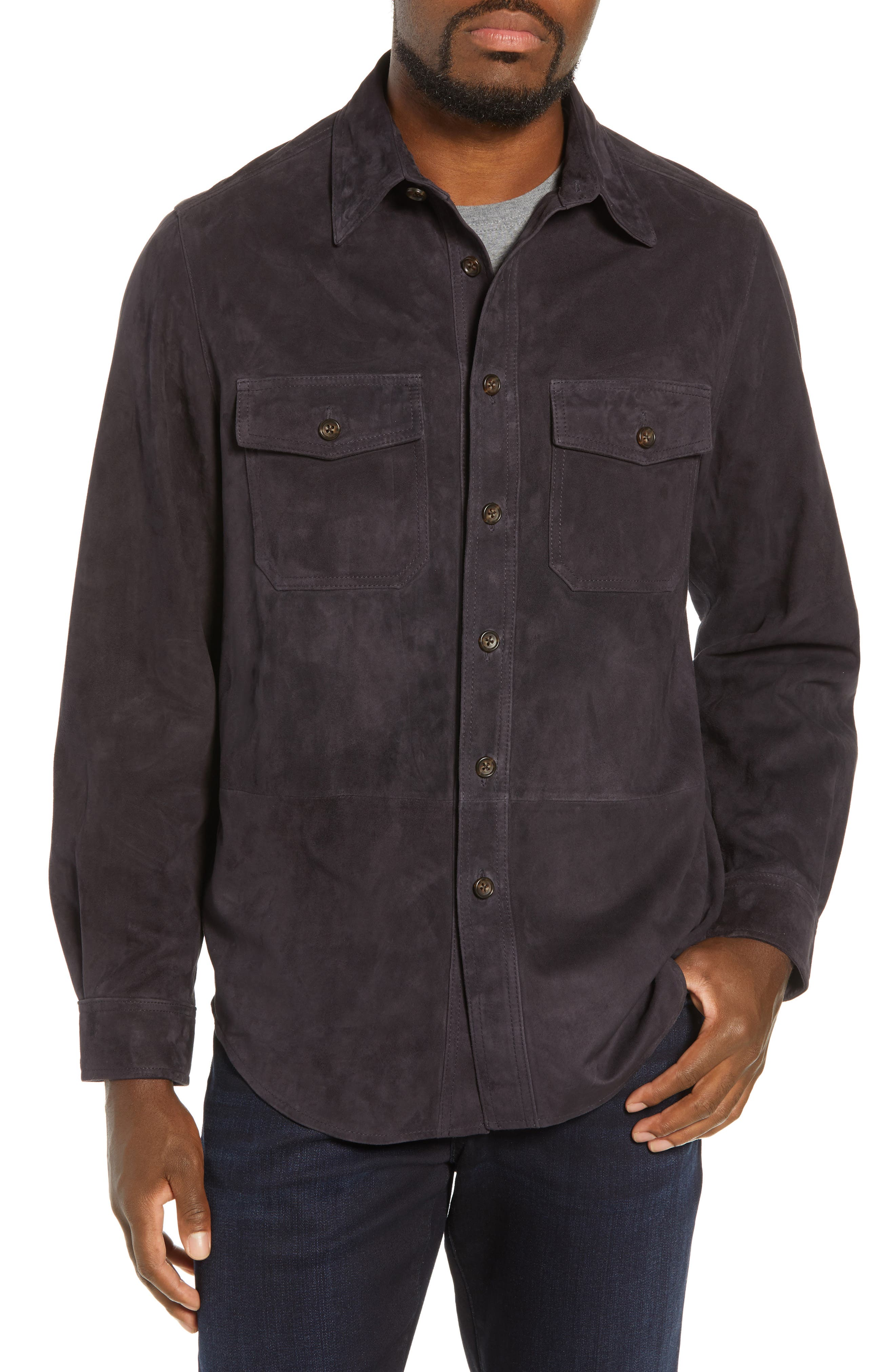 Golden Beat The Mills Suede Shirt Jacket