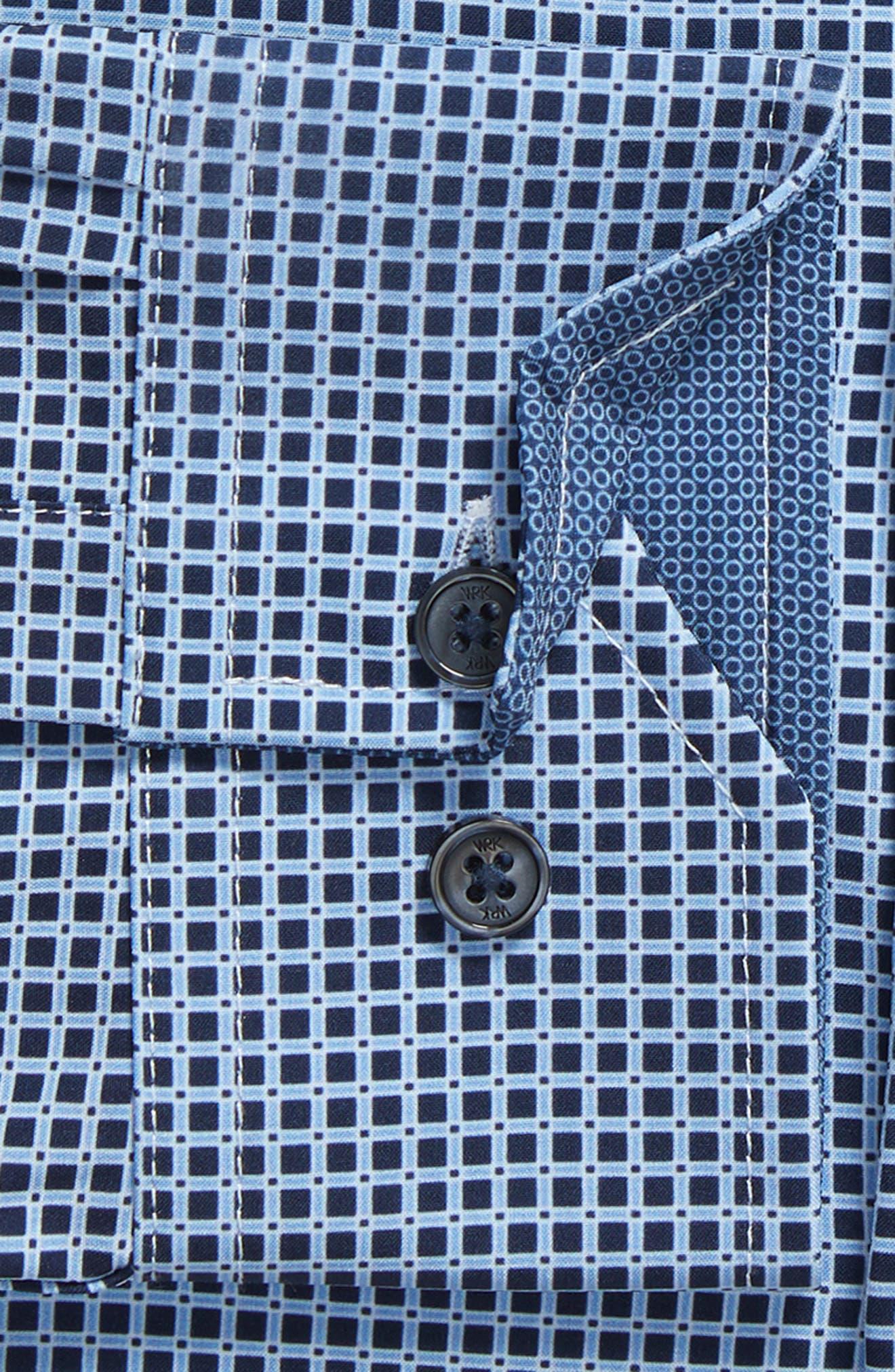 W.R.K,                             Trim Fit Check 4-Way Stretch Dress Shirt,                             Alternate thumbnail 6, color,                             410